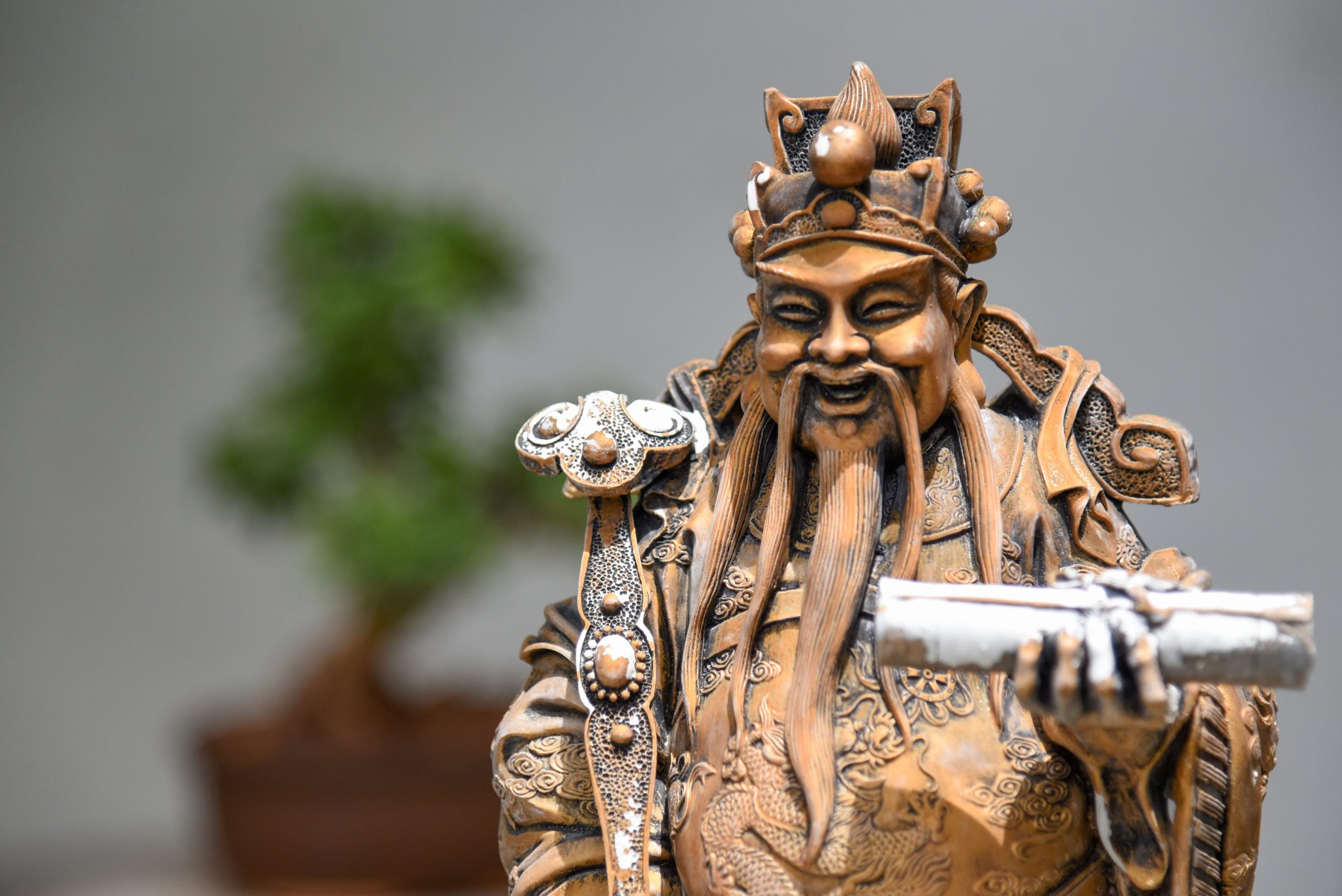 An old Chinese man statue