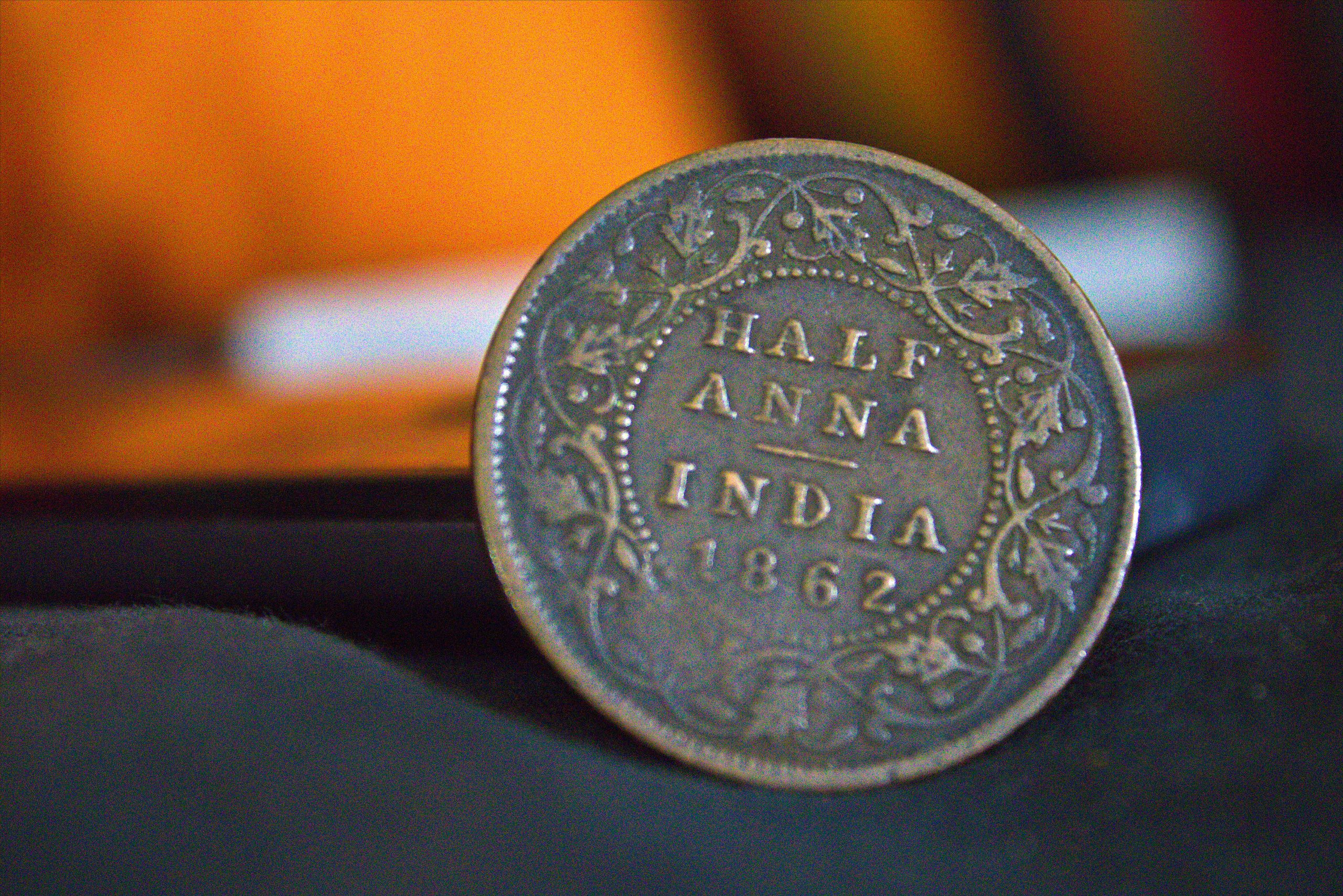 An old coin of Indian currency