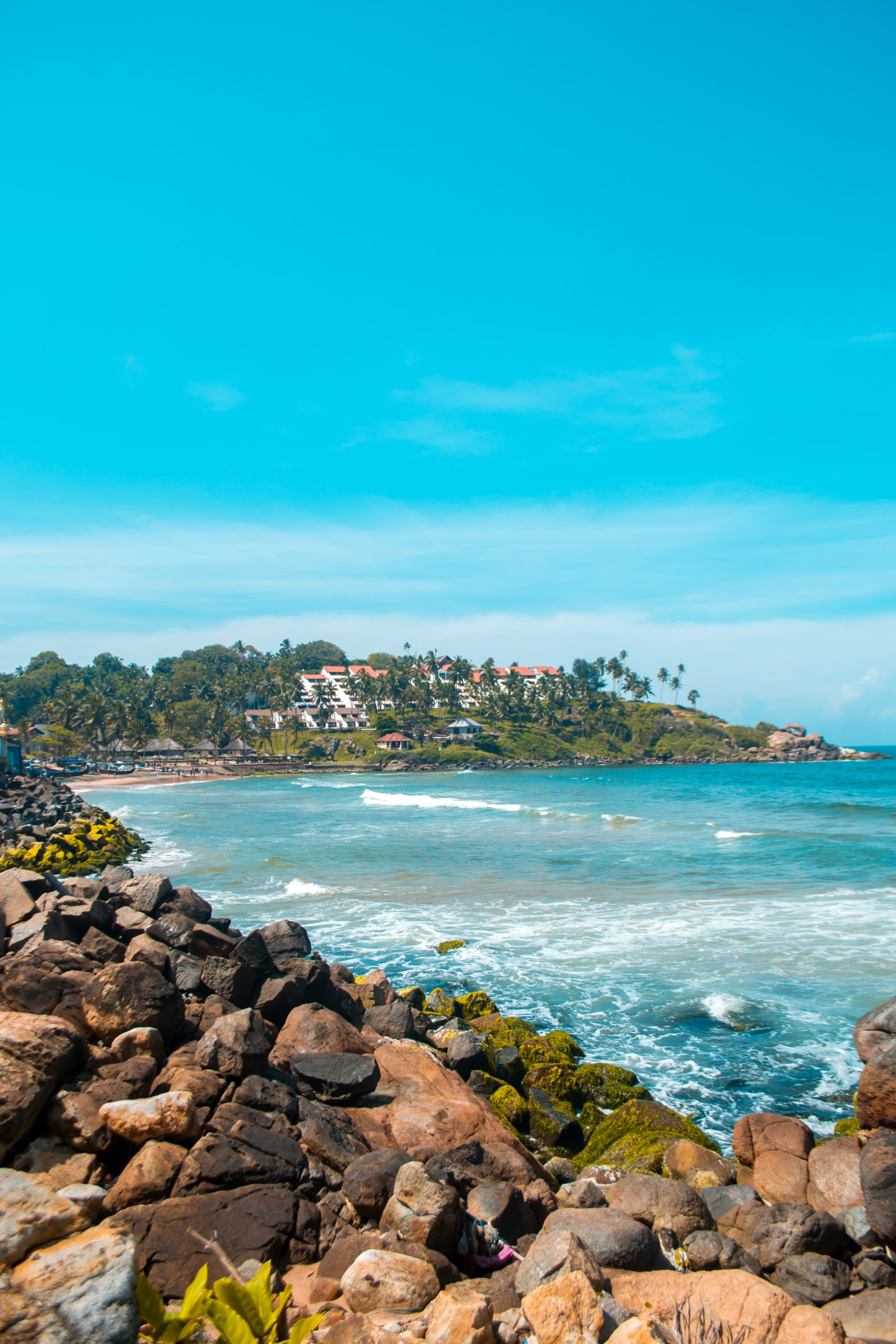 View from Kovalam beach.