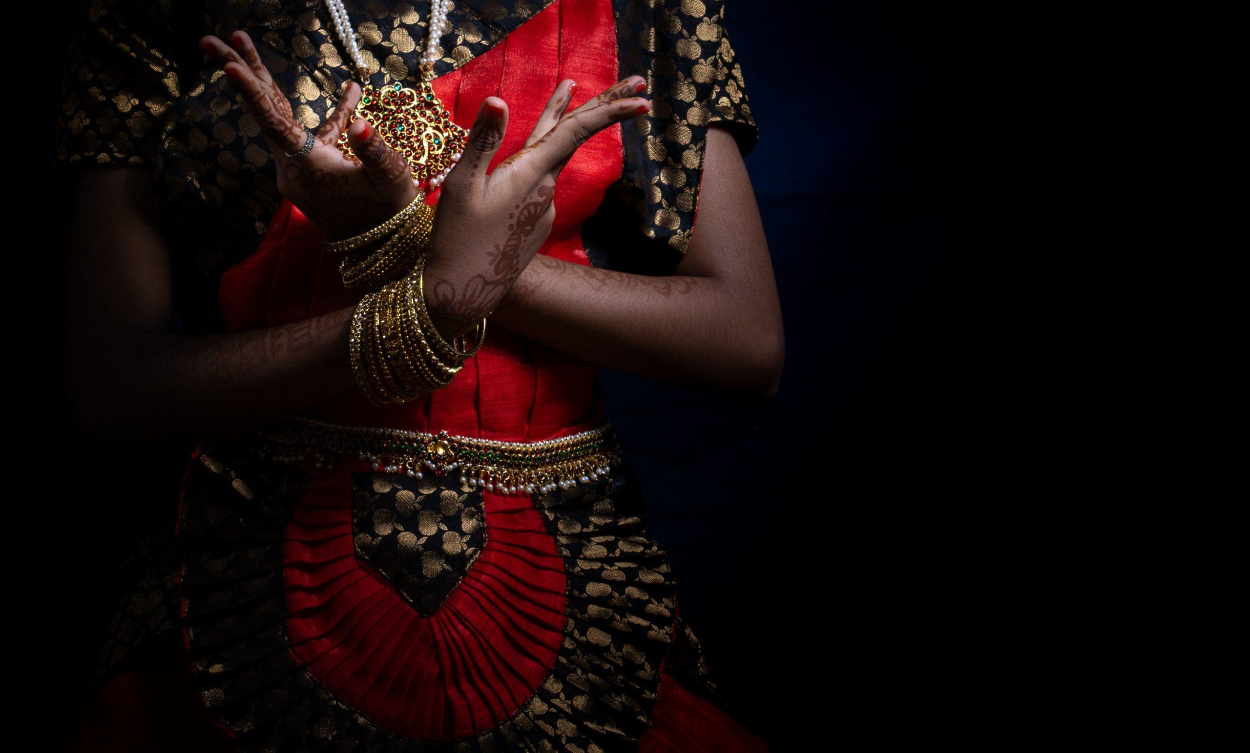 Bharatanatyam dance pose