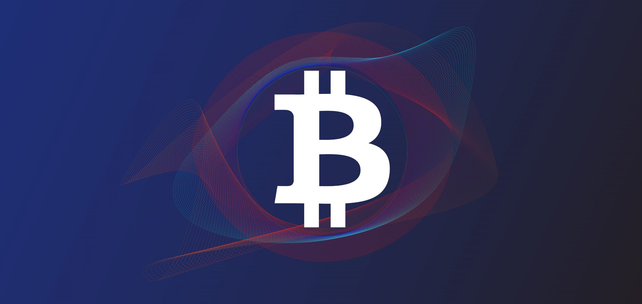 Bitcoin in abstract background