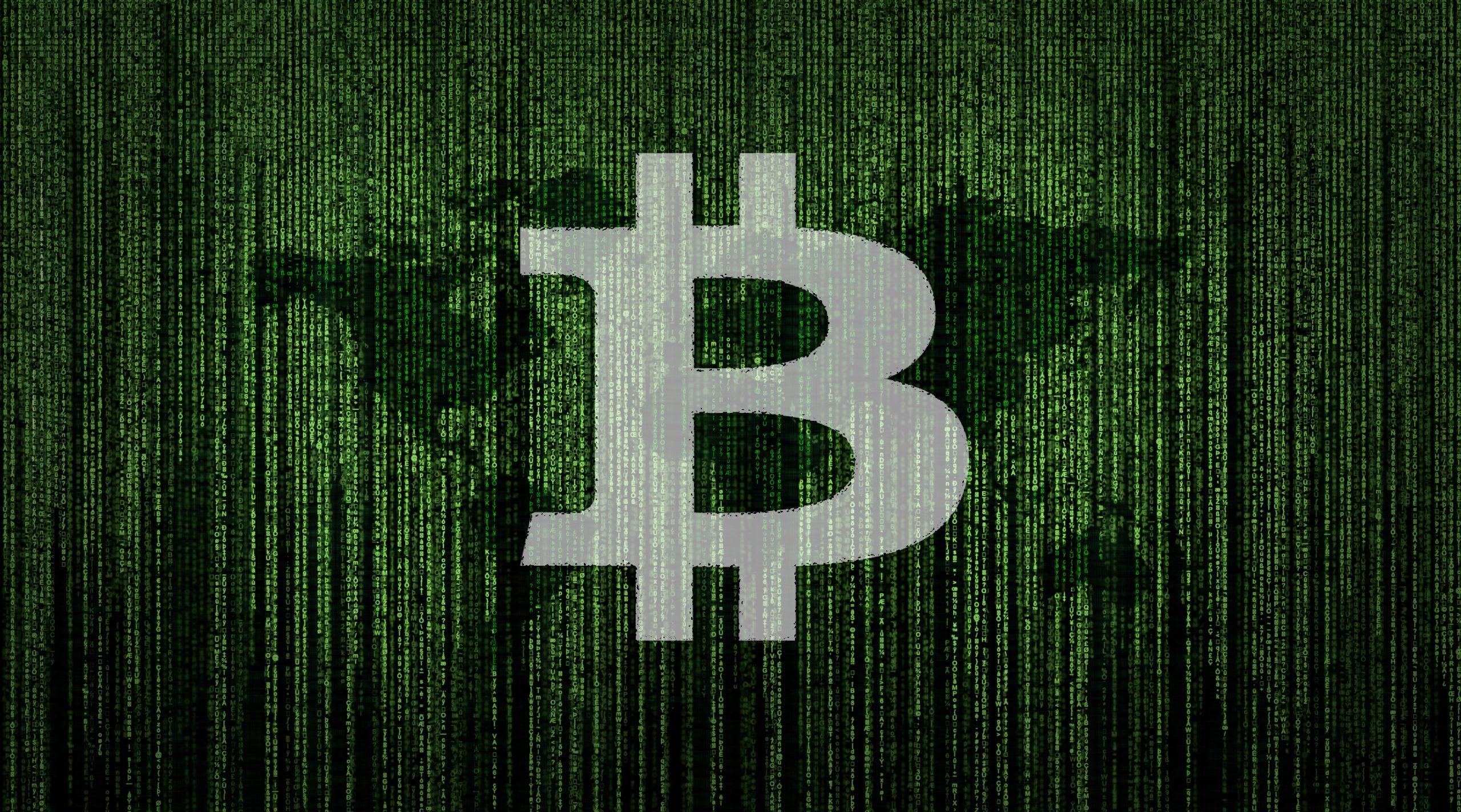 Bitcoin on world map