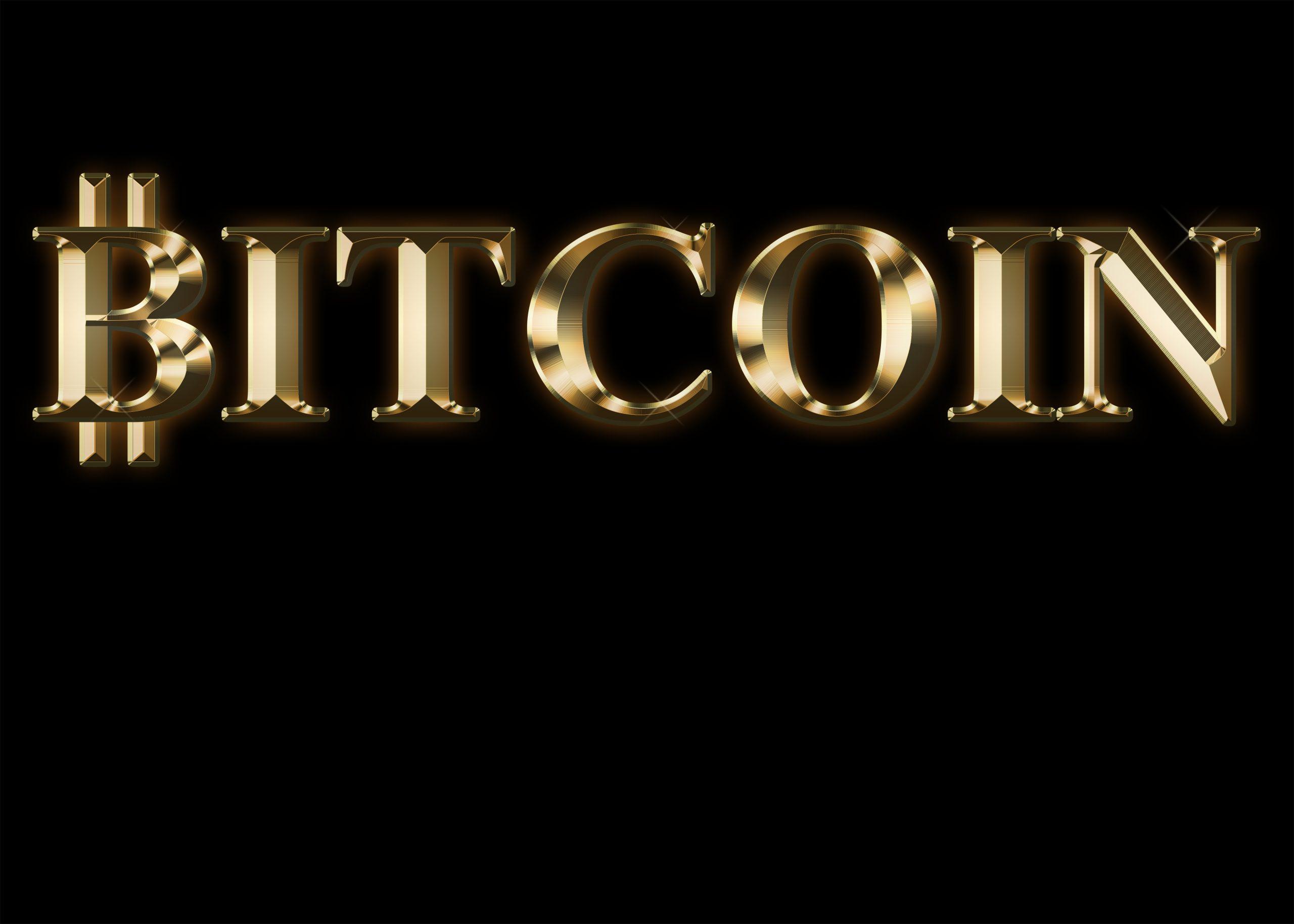 Bitcoin sparkling text