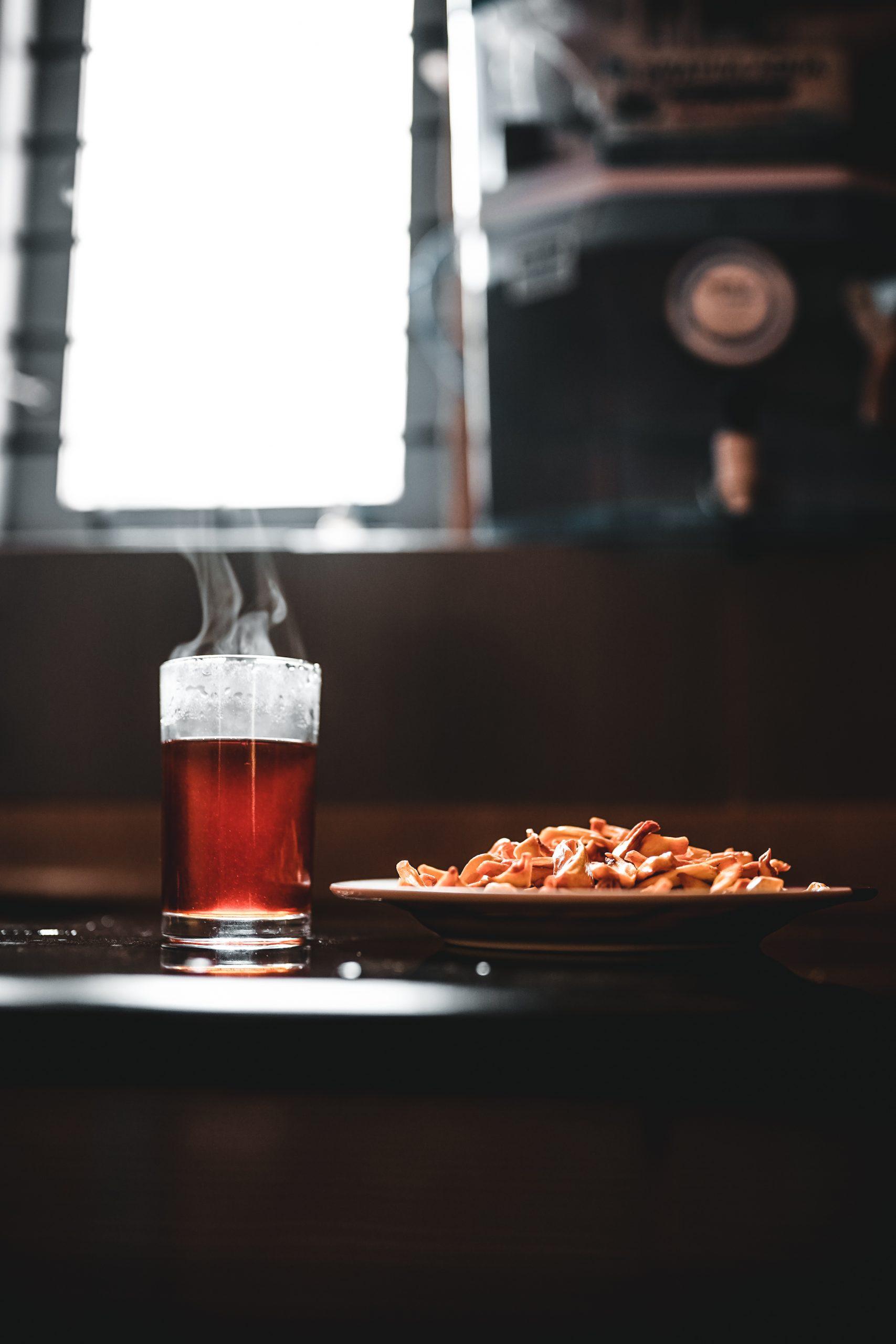 Black tea and snacks