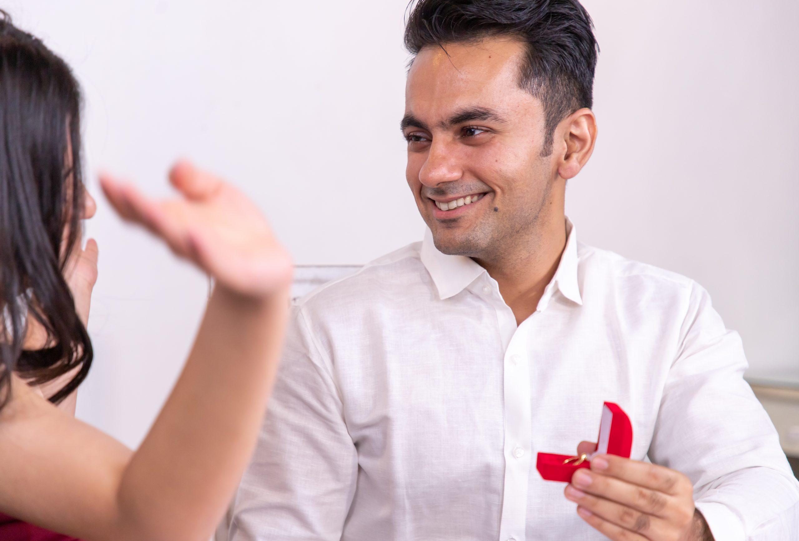 Boy proposing to girl