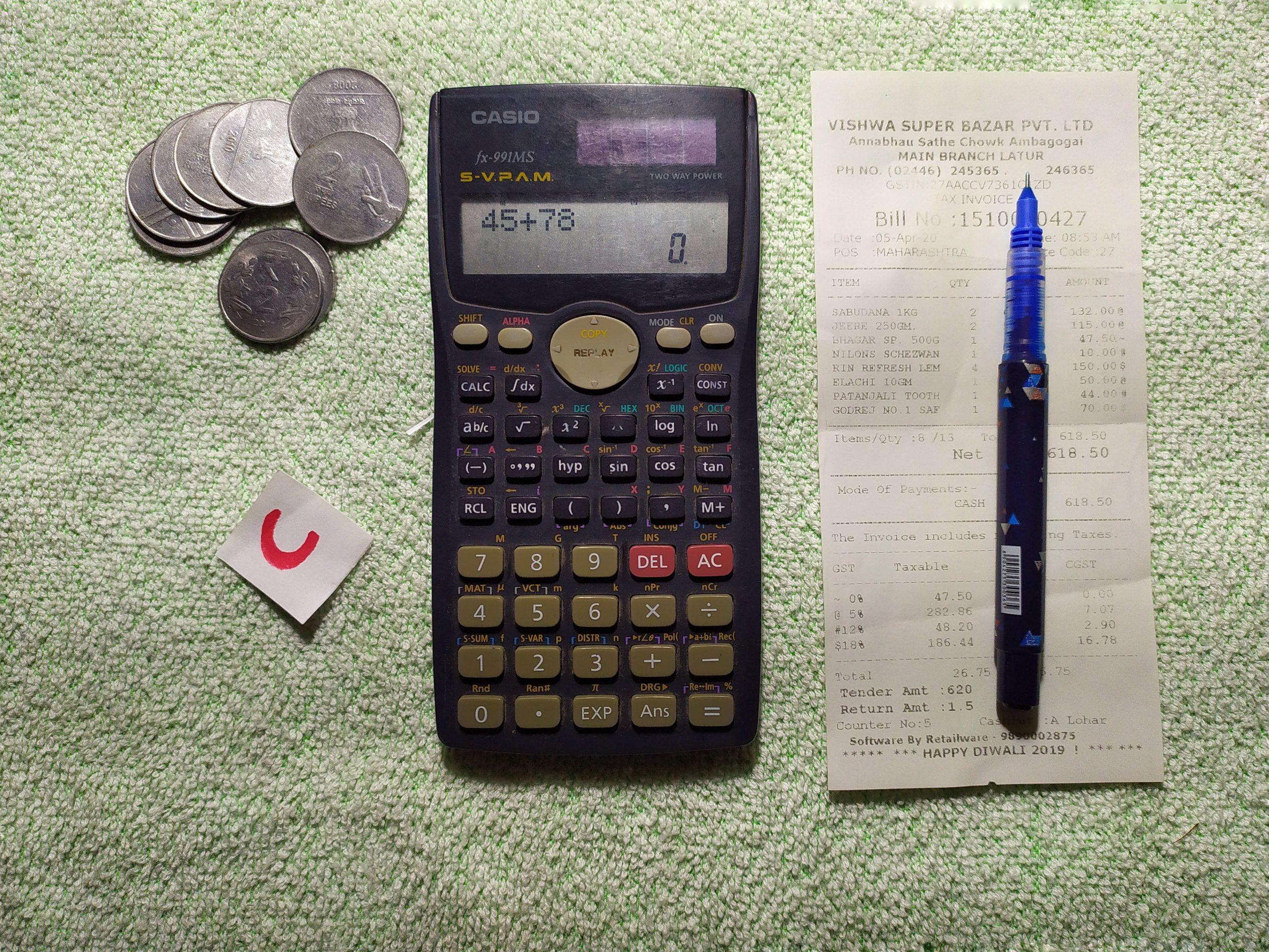 Calculating customer bill