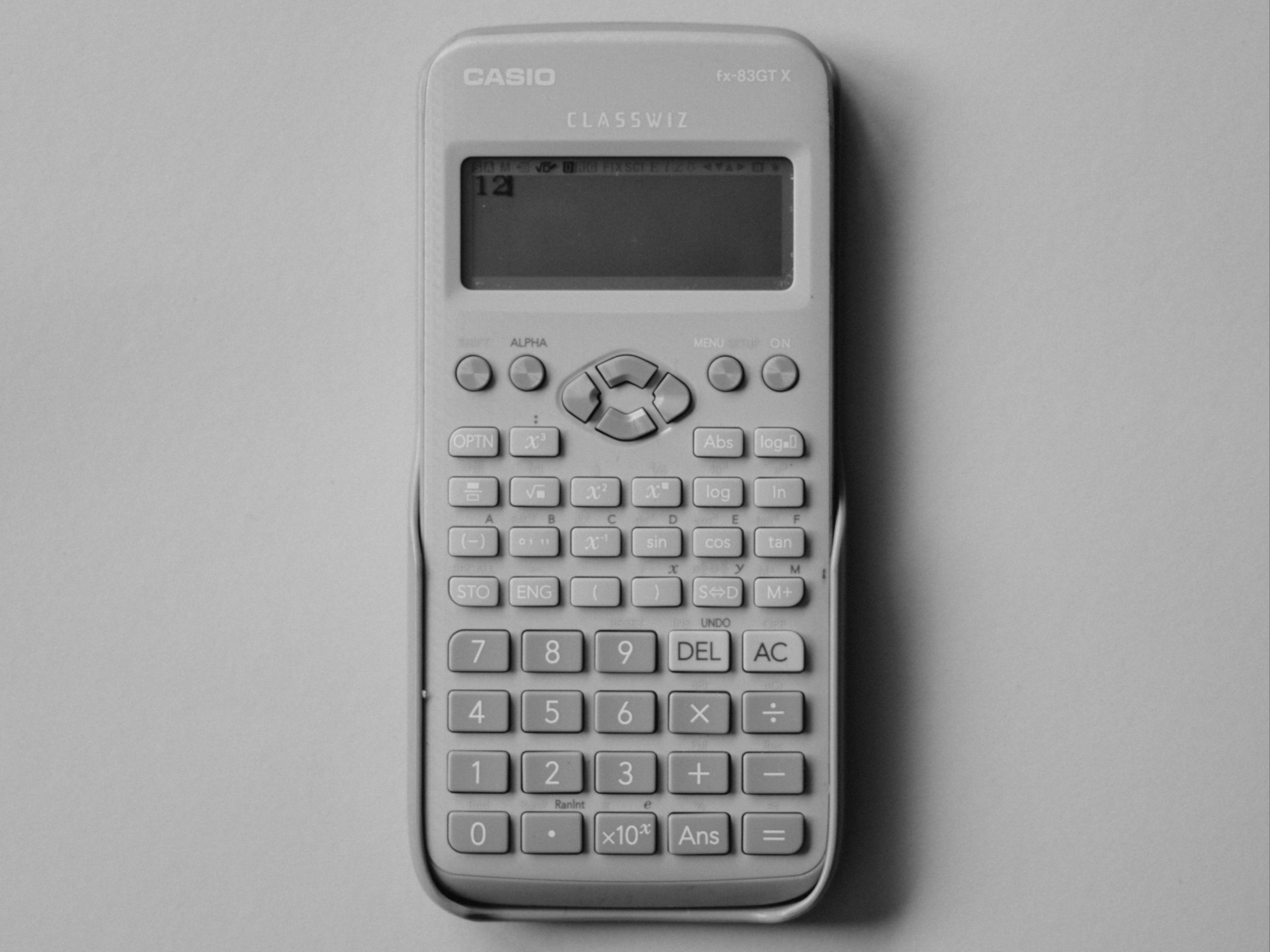 A digital calculator.