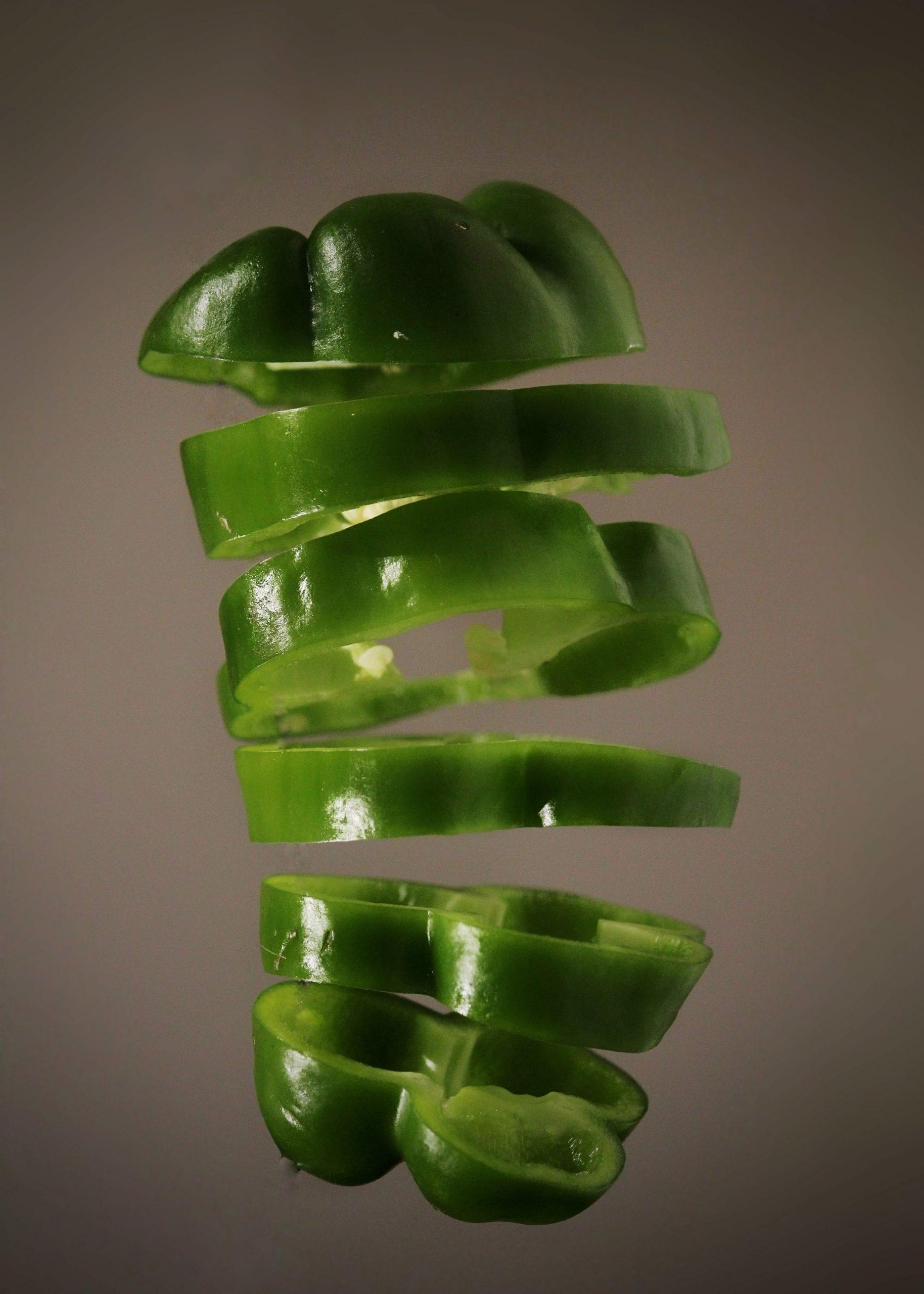 sliced capsicum