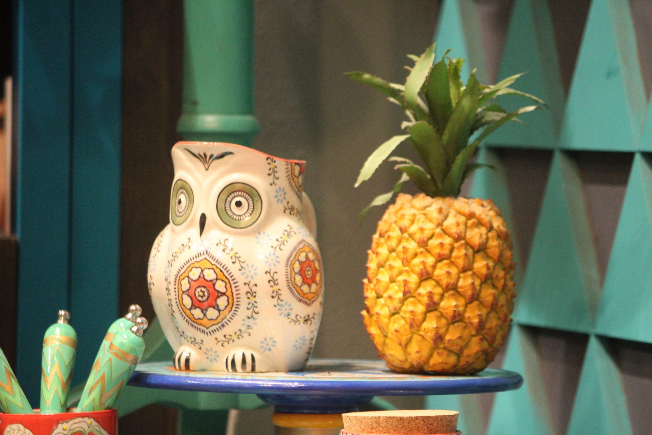 Ceramic pot and Pineapple