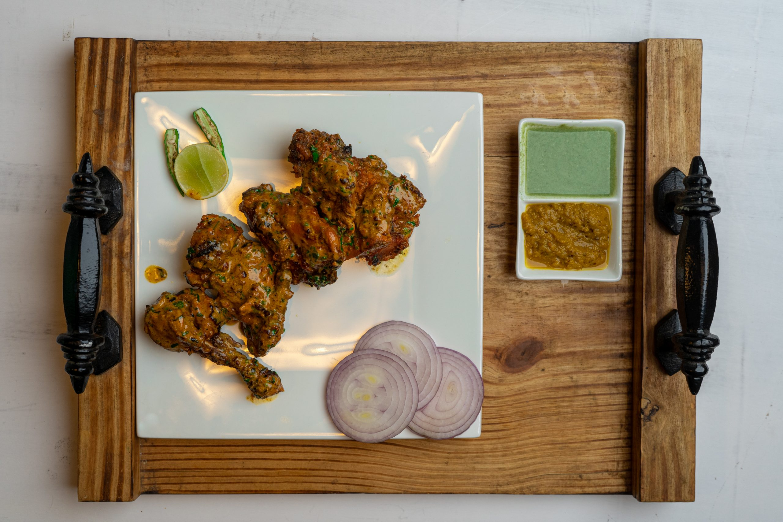 Delicious Indian flavoured chicken.