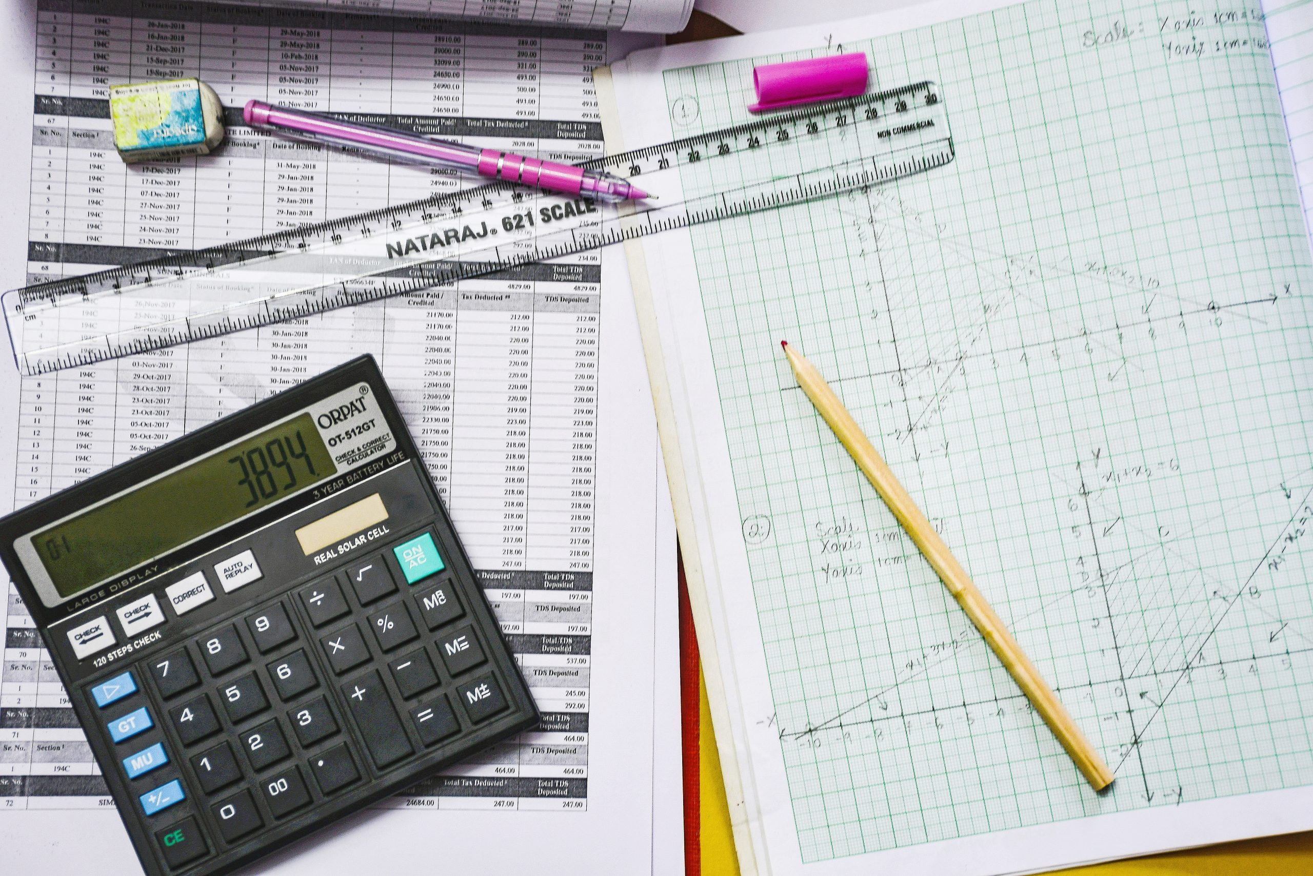 Complex calculation with a calculator