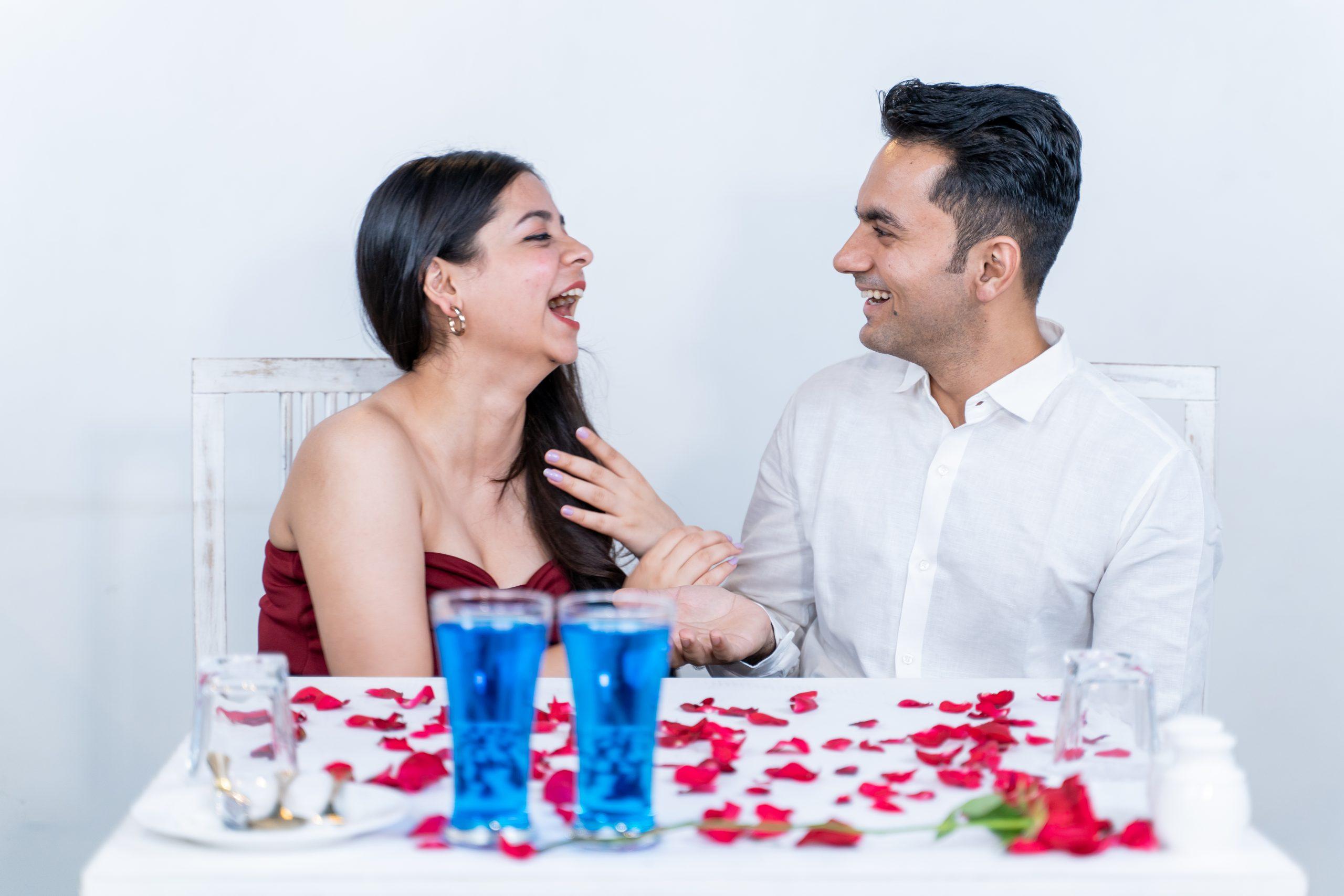 Couple enjoying their date