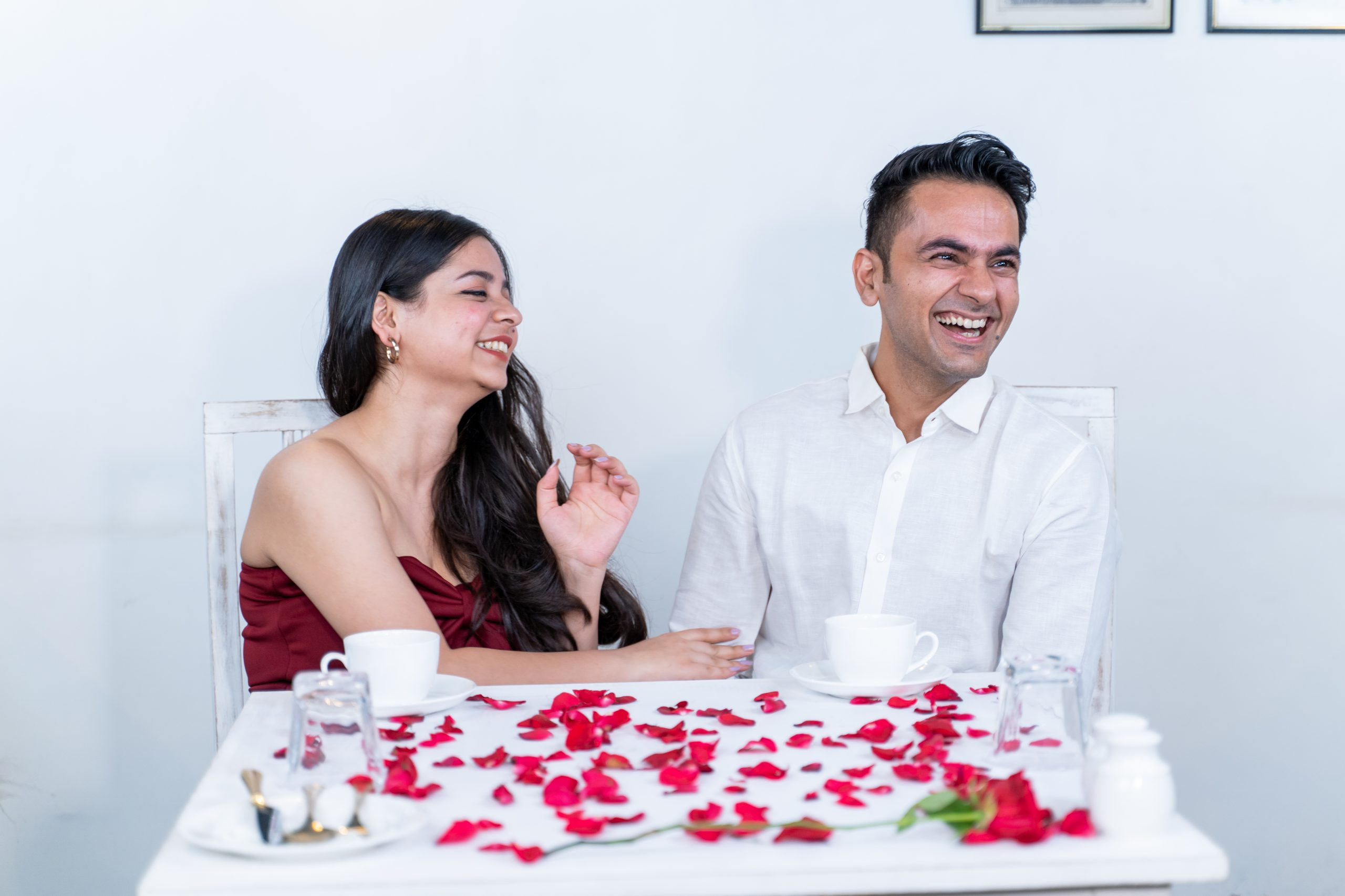 Couple having fun on the date