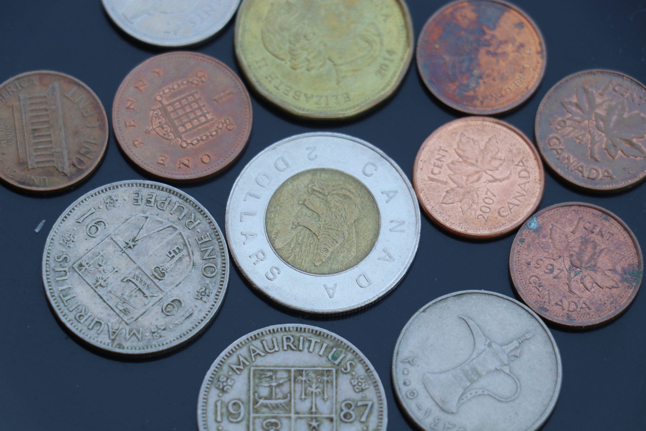 Currency coin of different nations