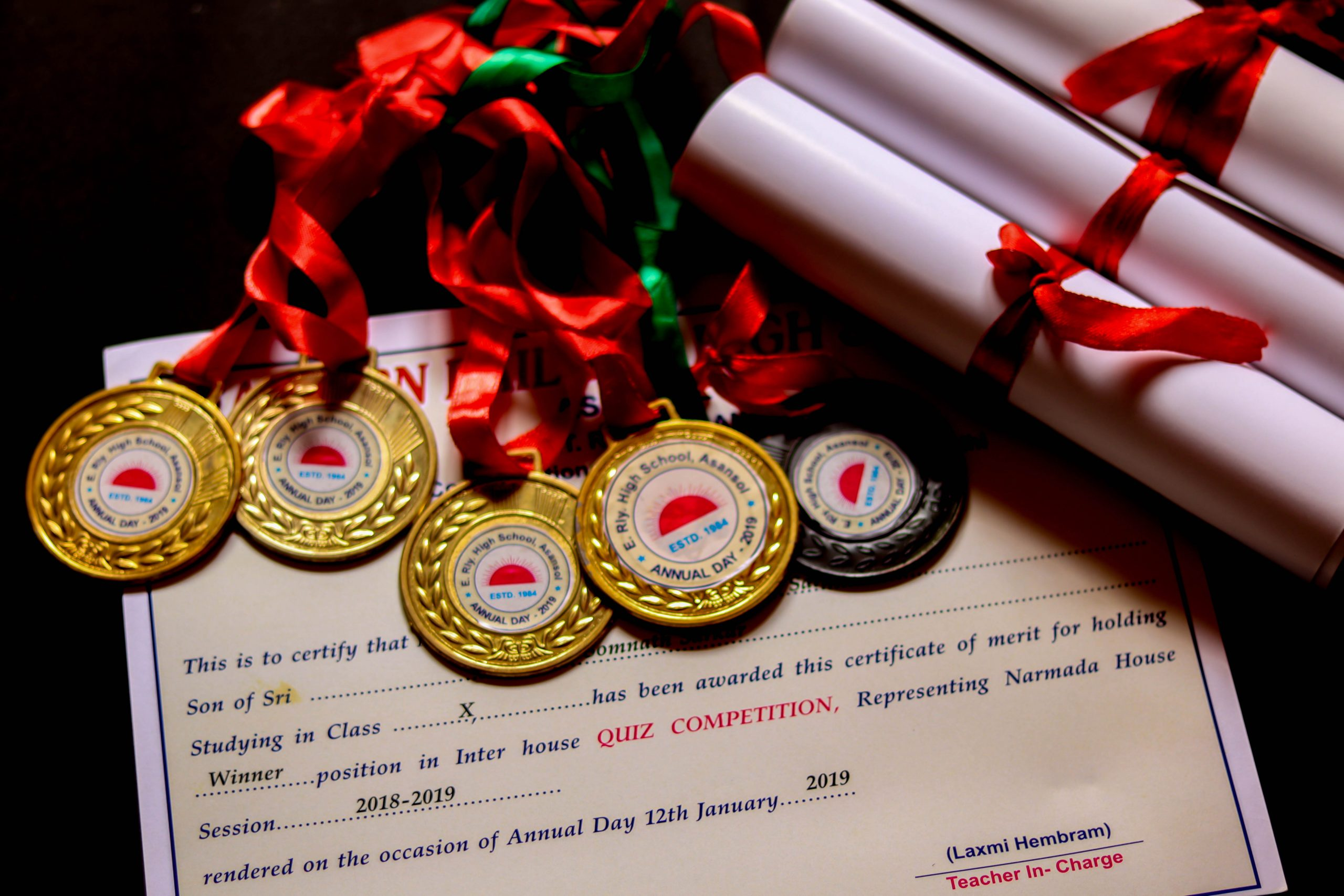 Degrees, certificates and medals