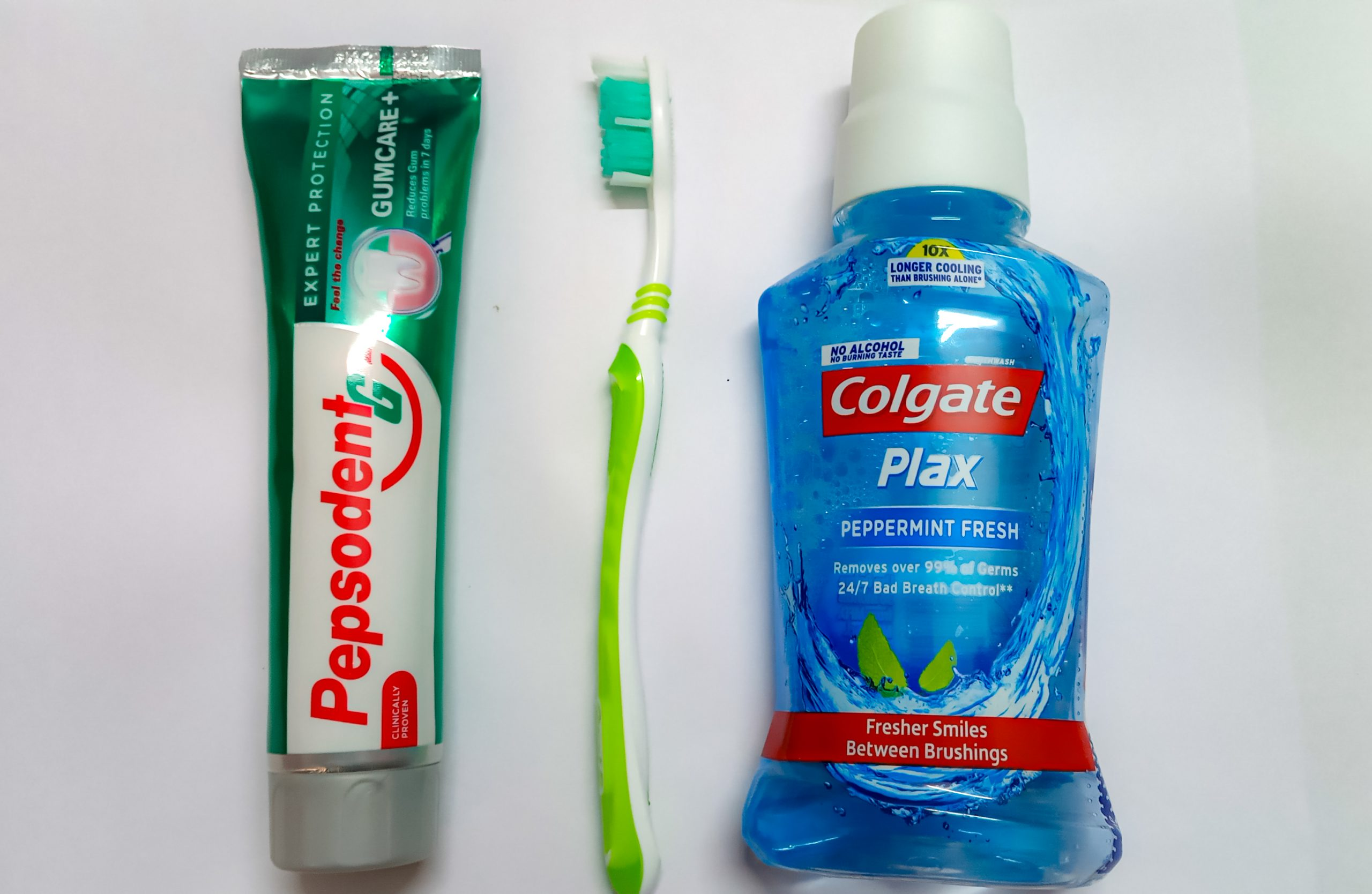 Dental toothpaste and brush