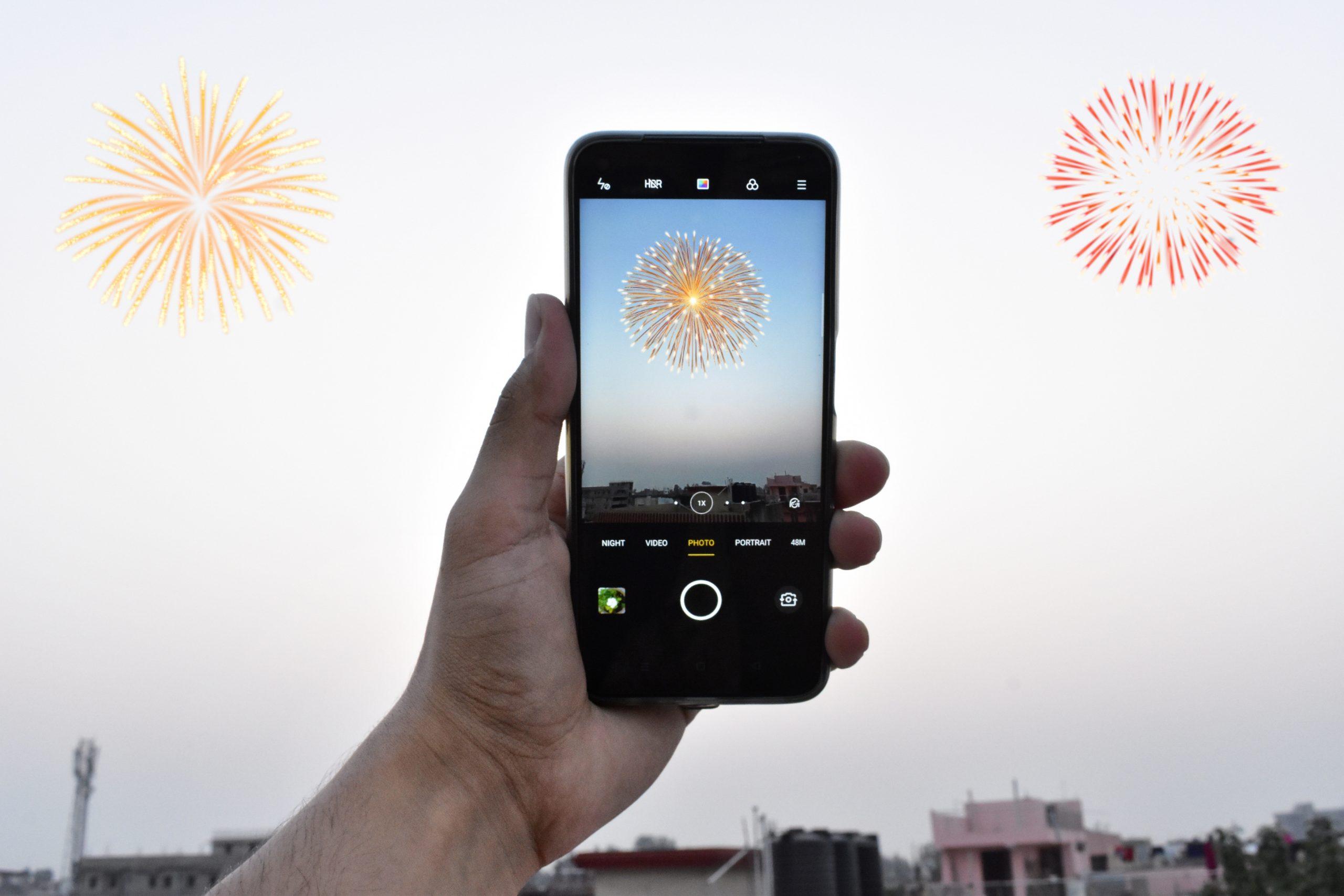 Capturing Diwali Crackers in camera