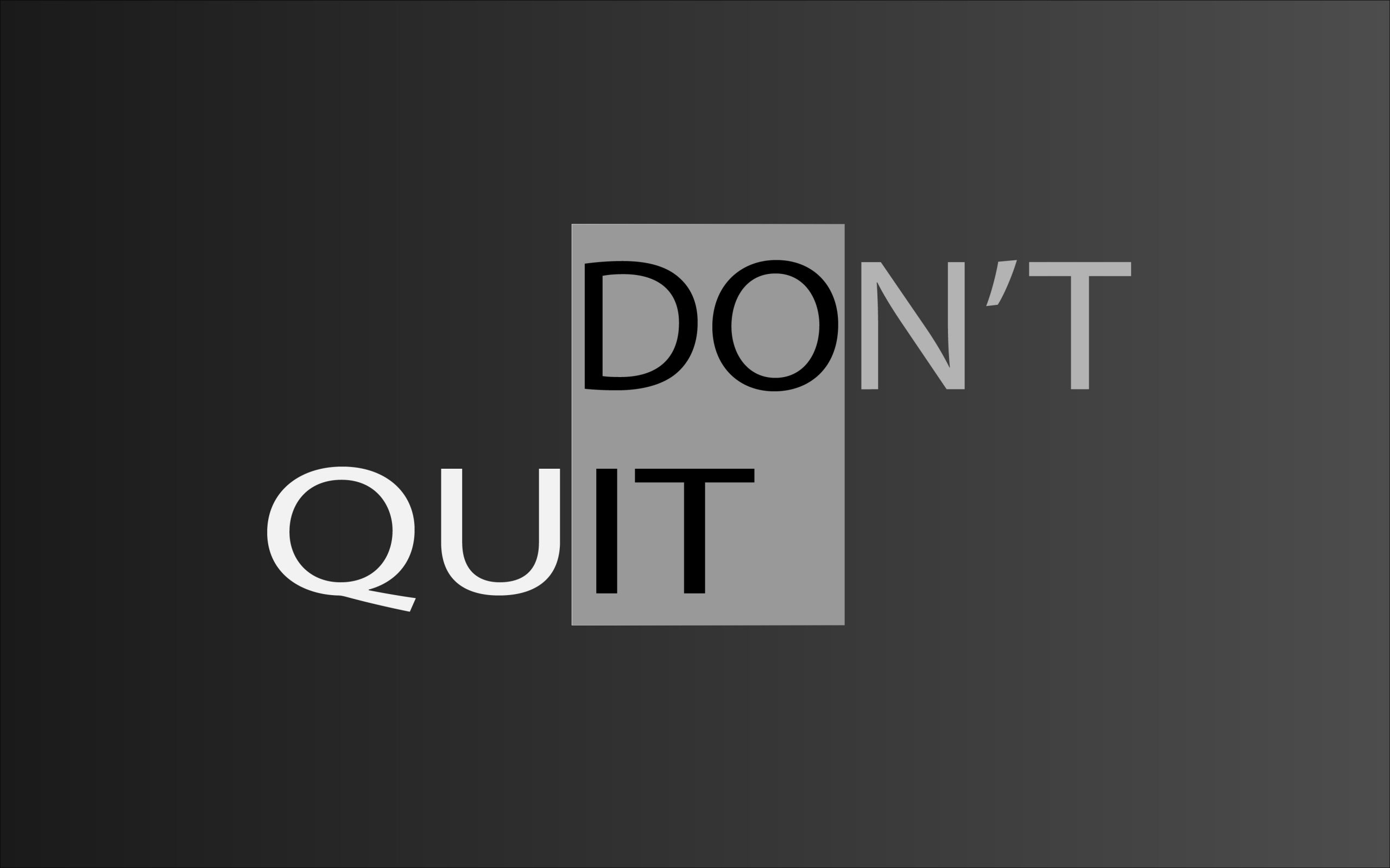 Motivational message of never give up