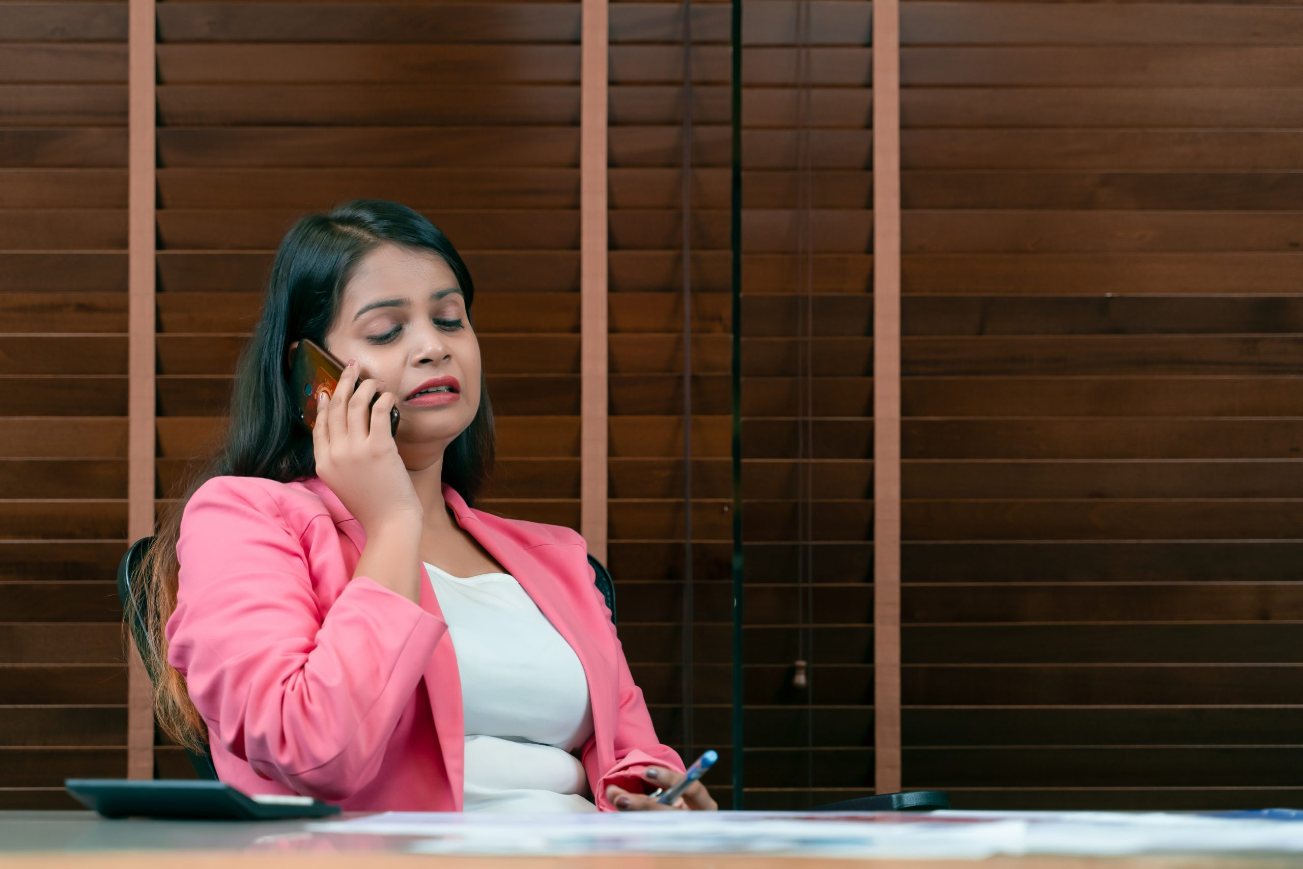 Employee on call with boss
