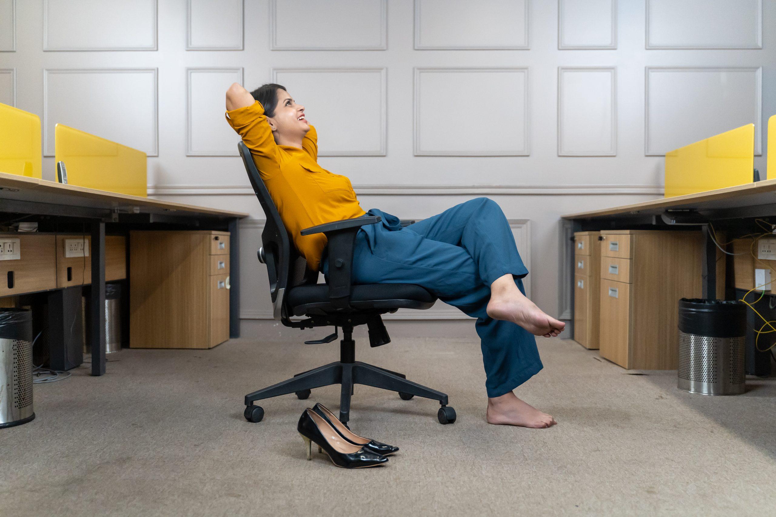 Employee relaxing in office