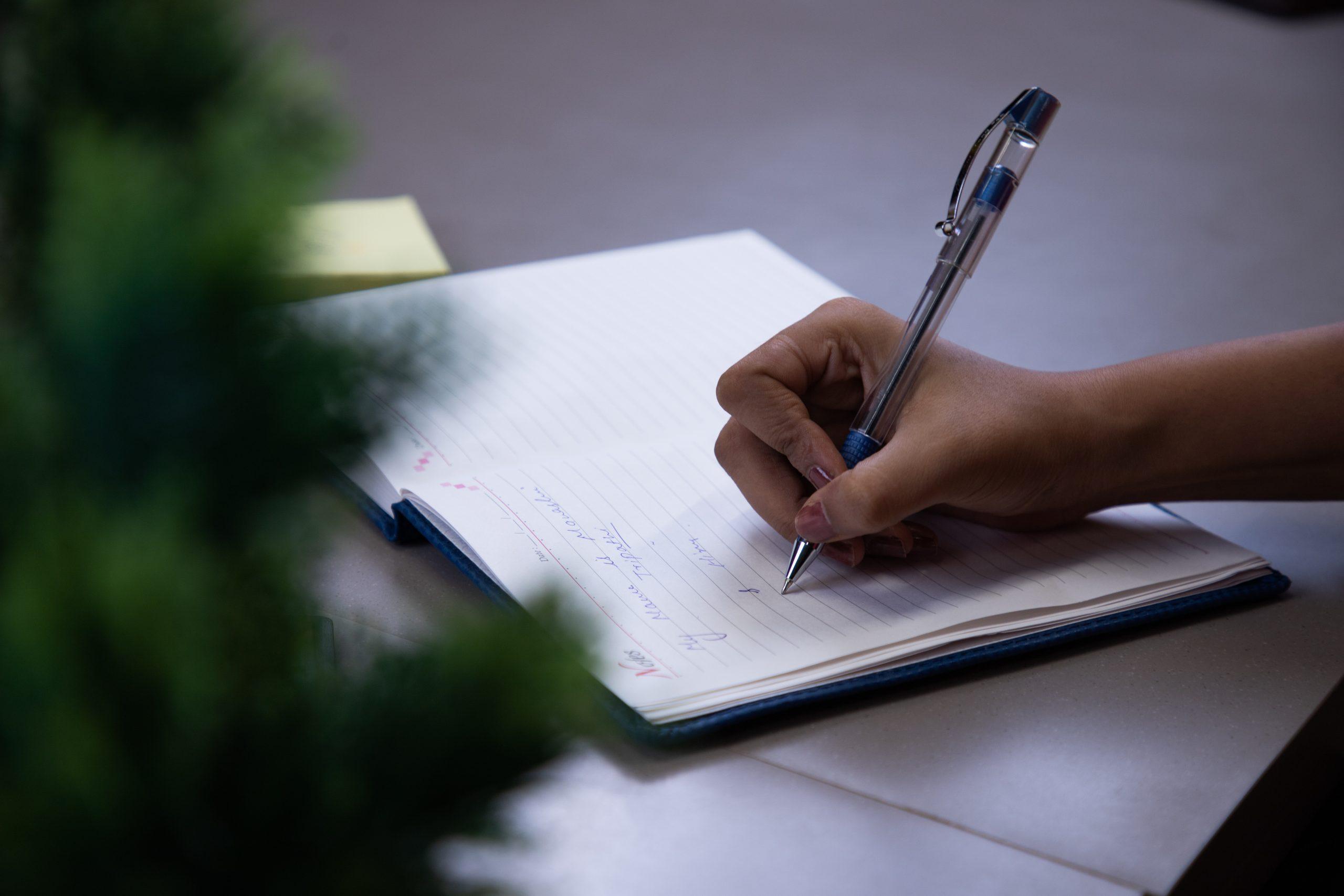 Employee taking notes