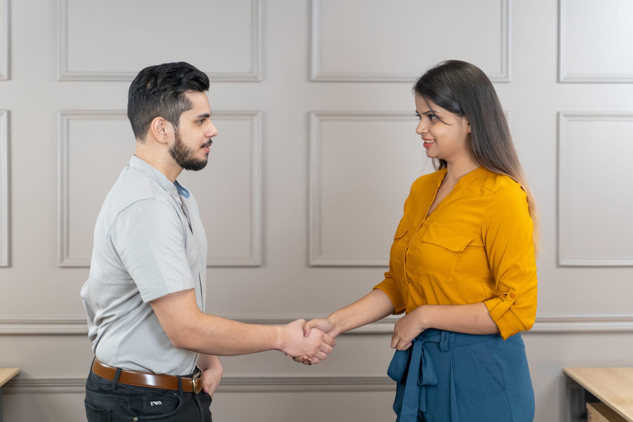 Entrepreneurs making a deal