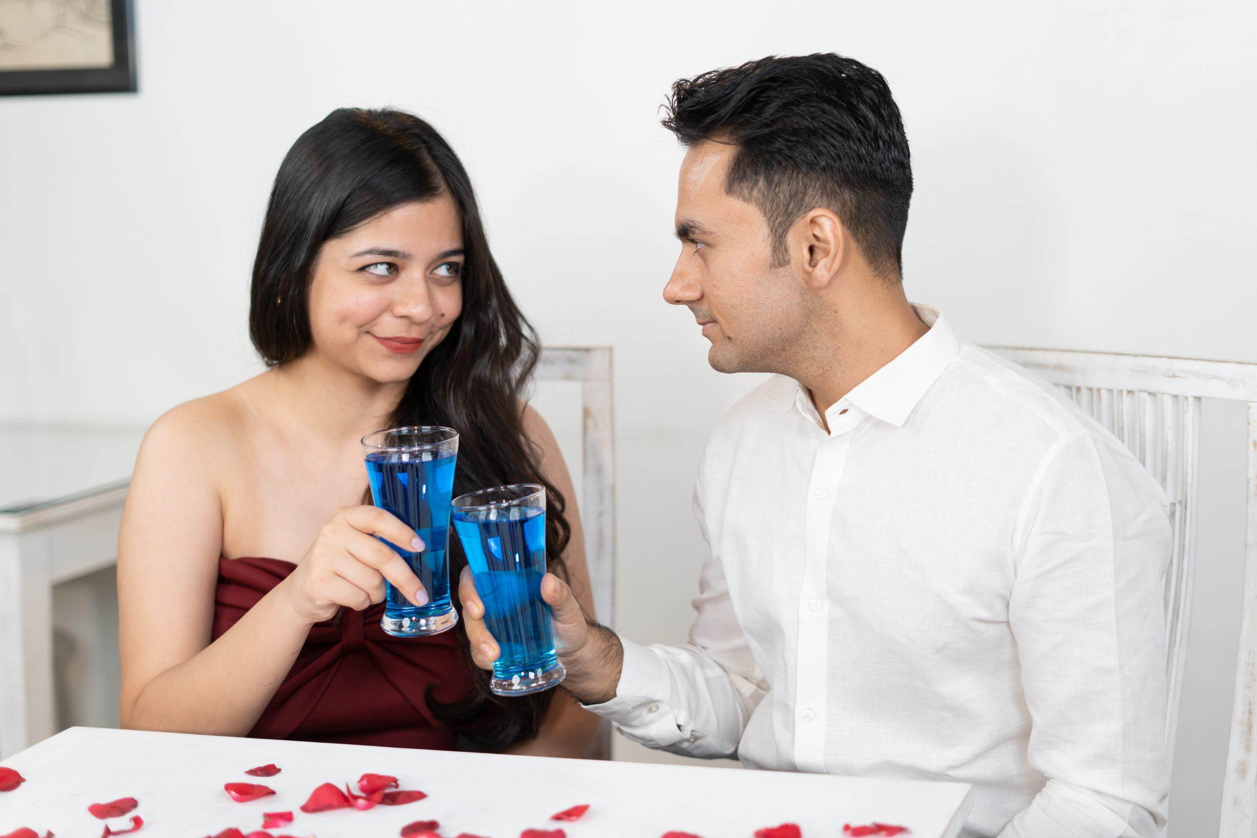 Eye contact between boy and girl