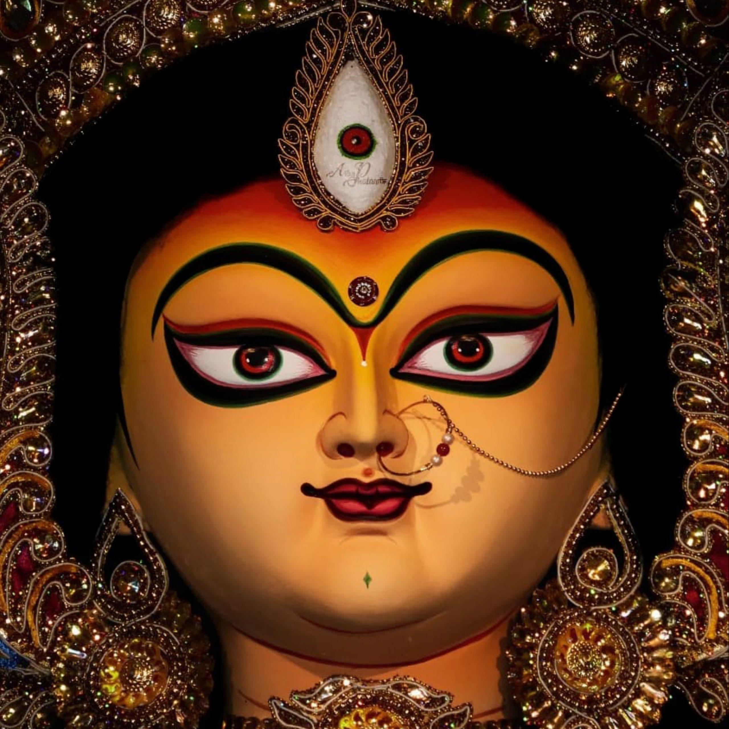 Face of Goddess Durga