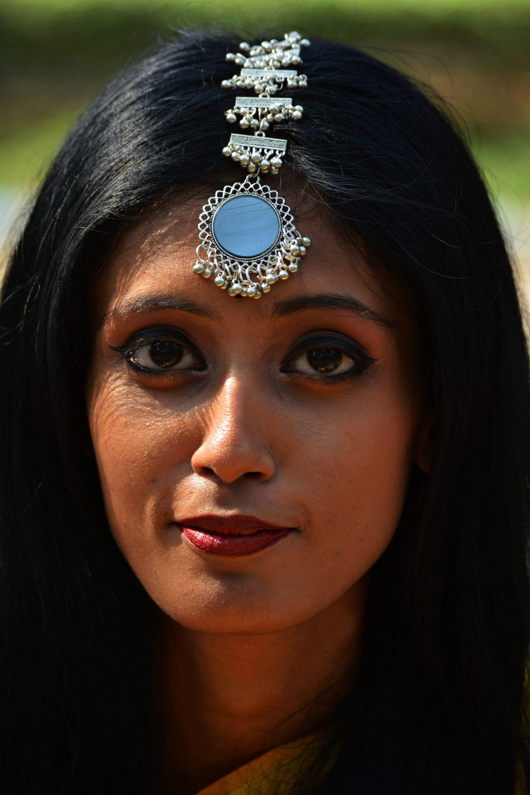 Face of an Indian girl