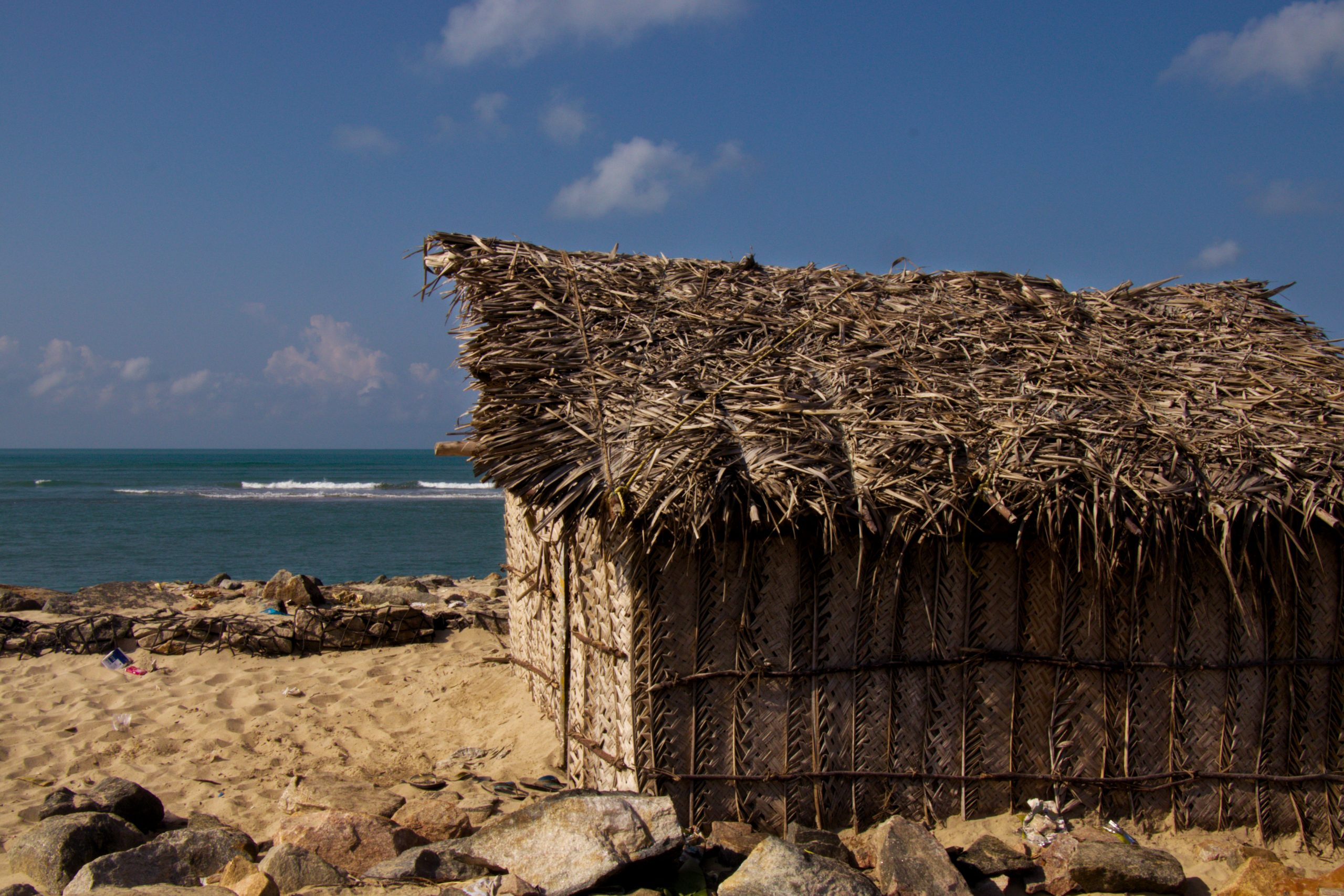 hut on a beach