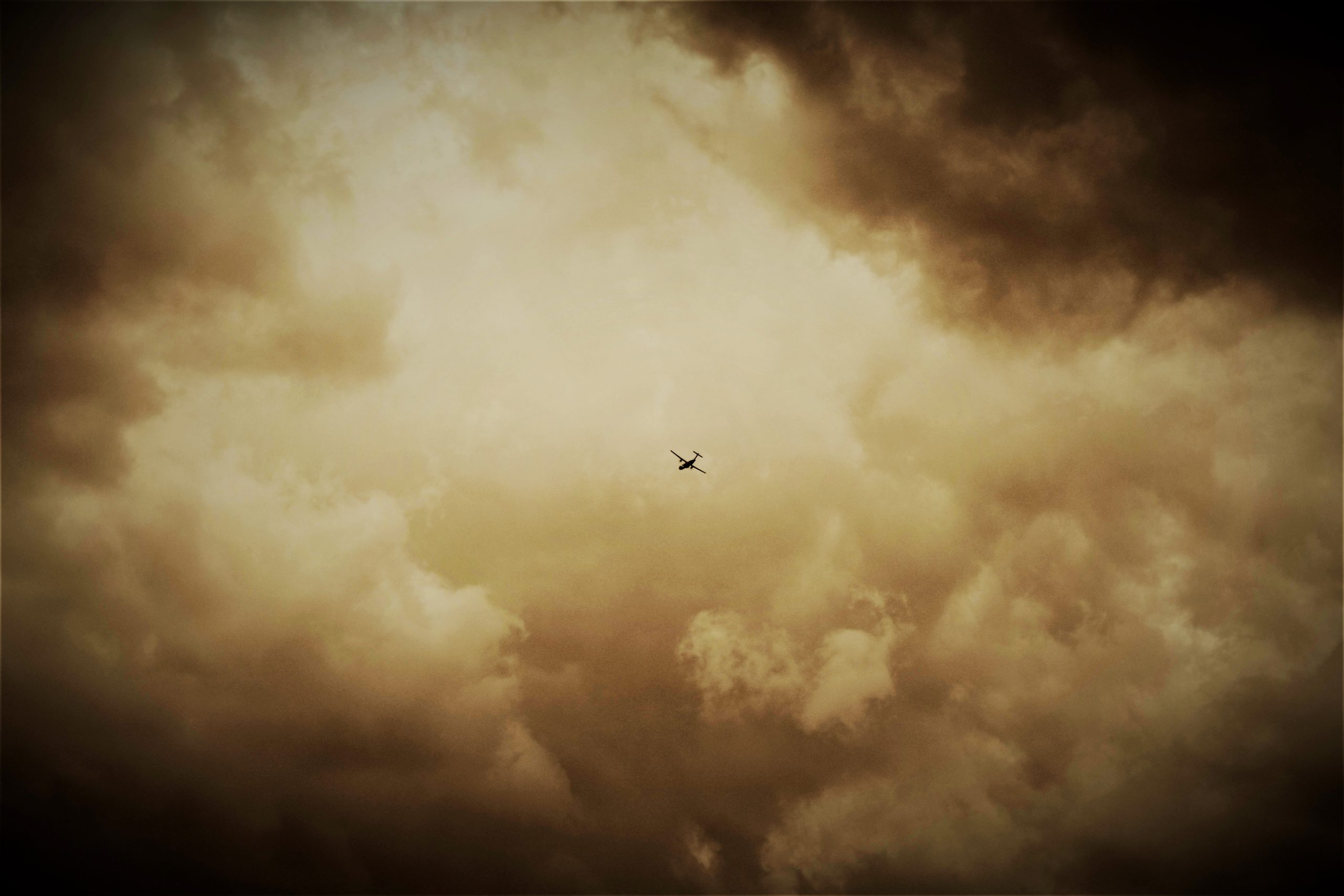 Flight into clouds