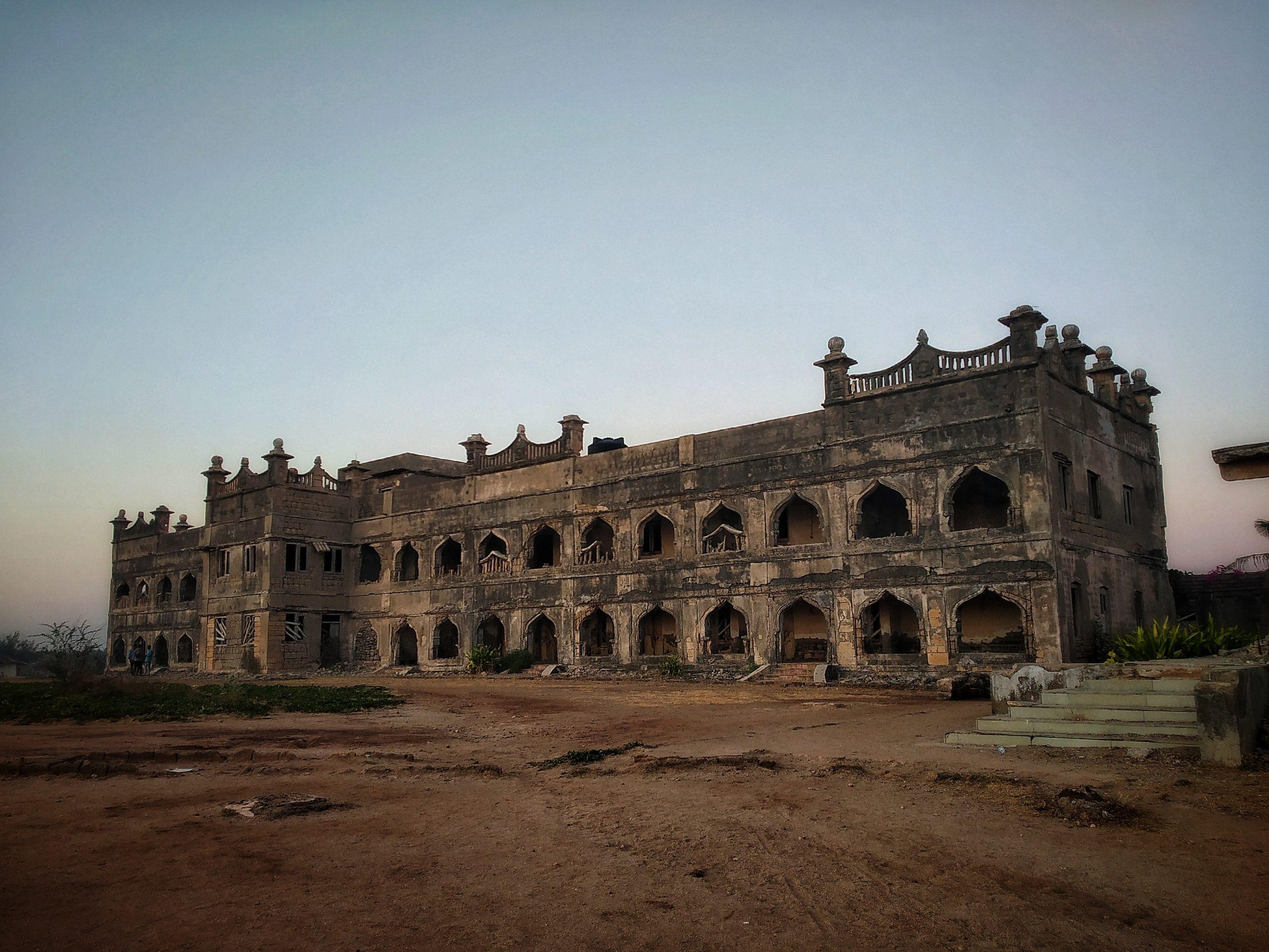 An old palace at chorwad Beach in Gujarat