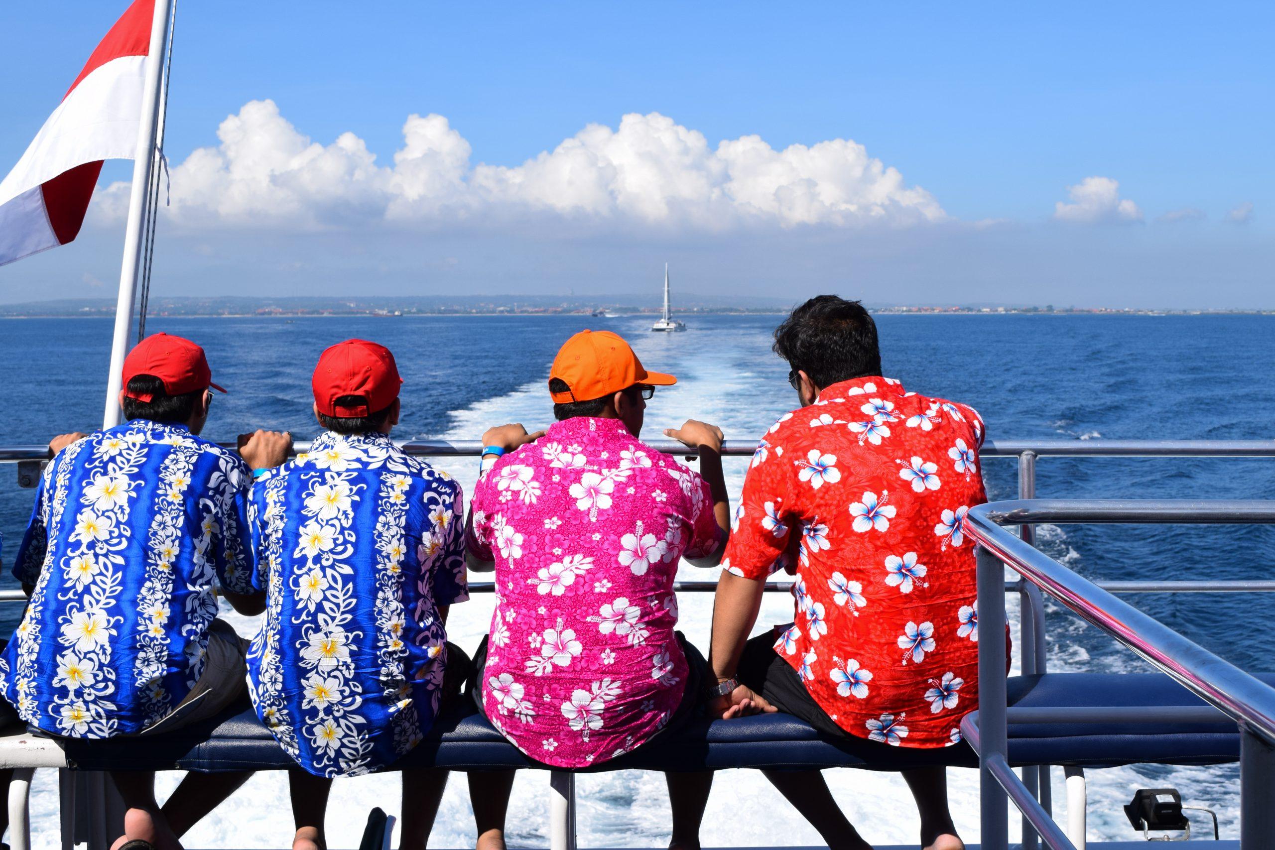 Friends enjoying cruise ride