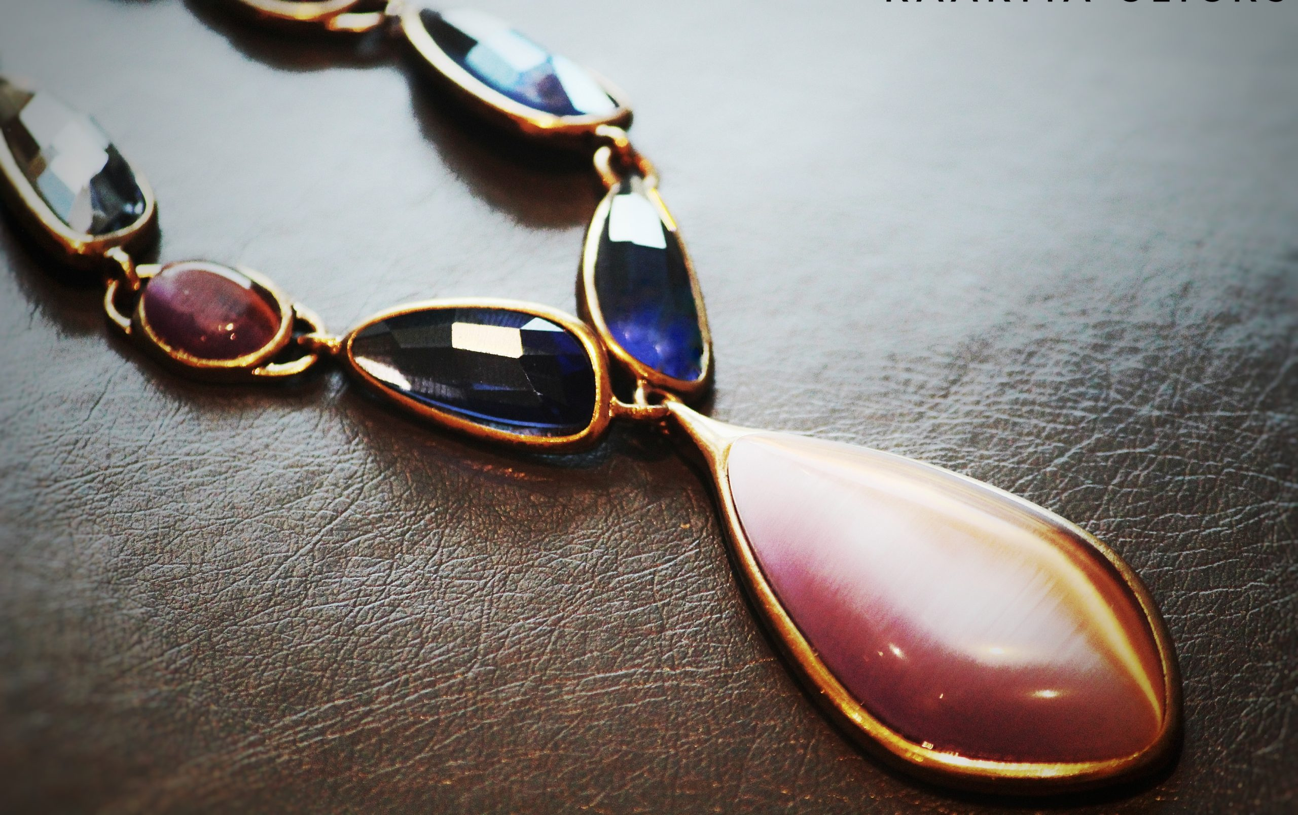 Gem stones of a necklace