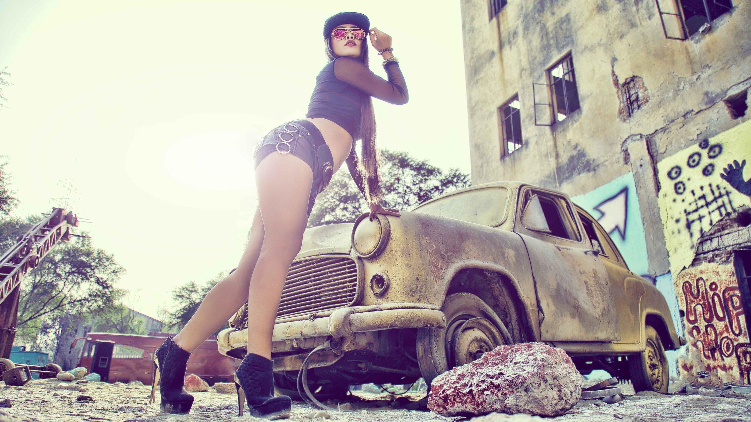 Model photo shoot