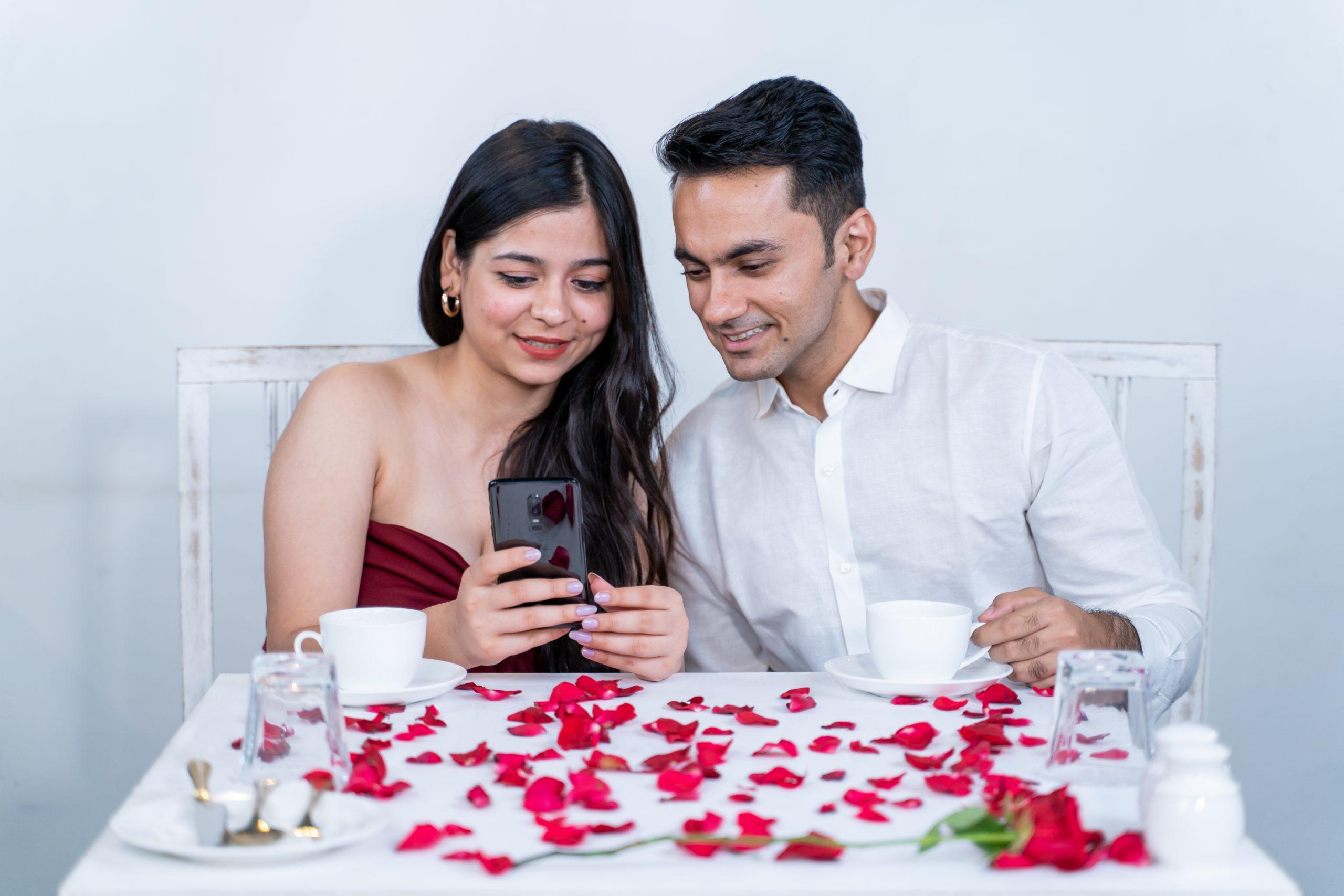 Couple enjoying on a date.