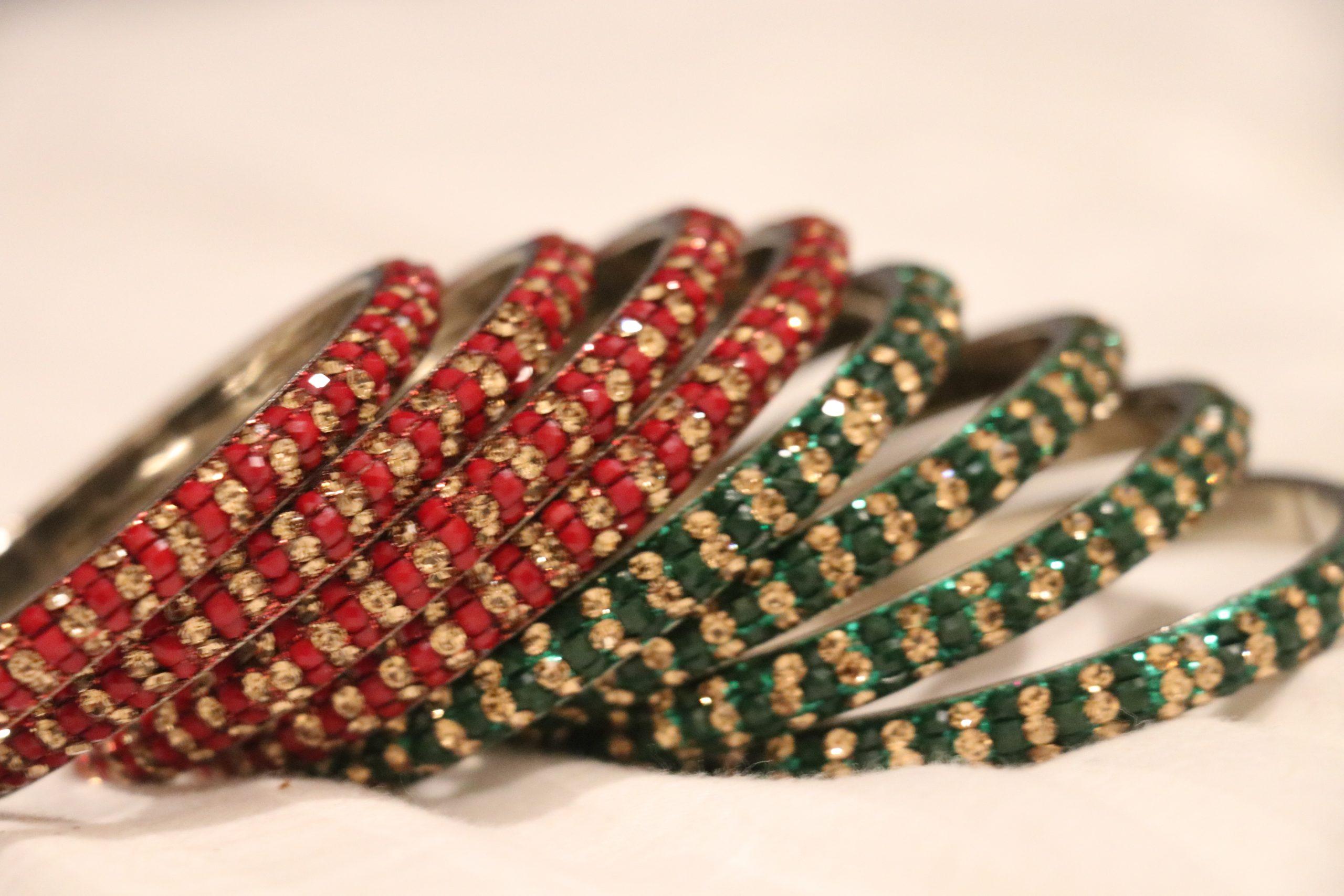 Glass bangles for women
