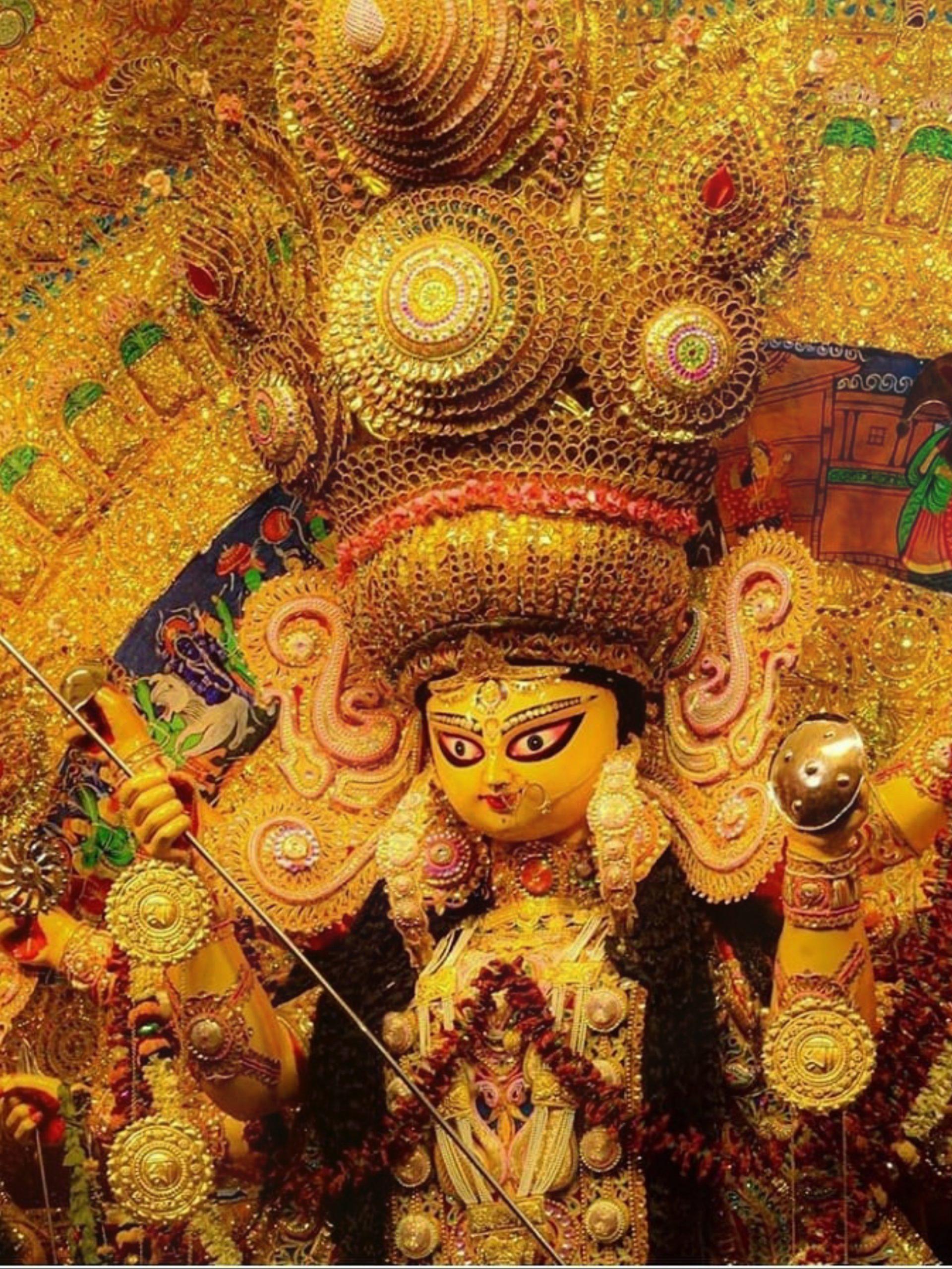 Goddess Durga Idol at a temple