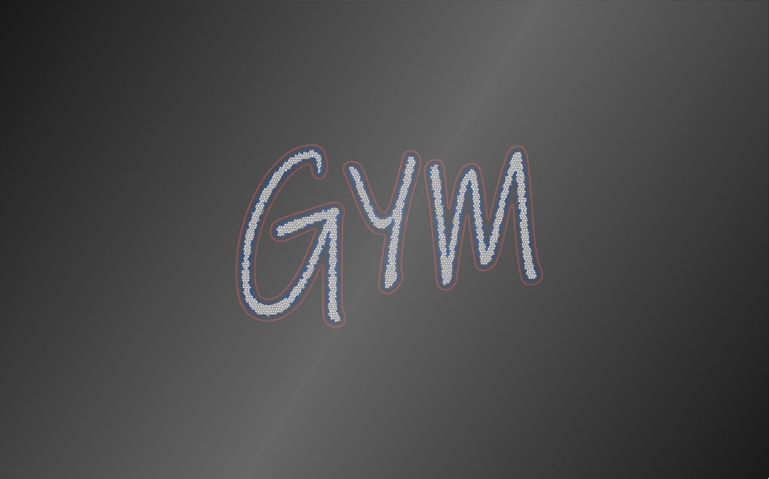 Gym word written on a surface