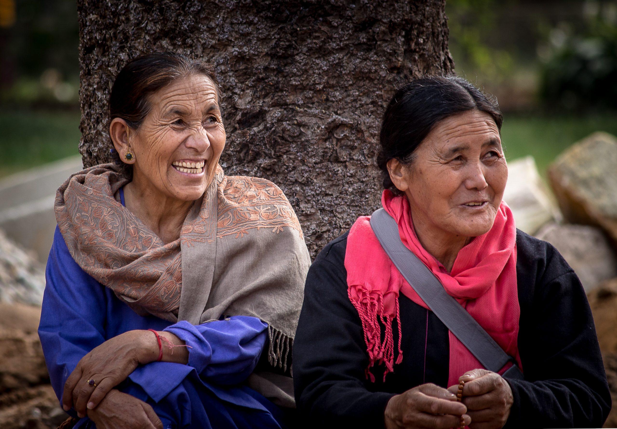 Happy old women