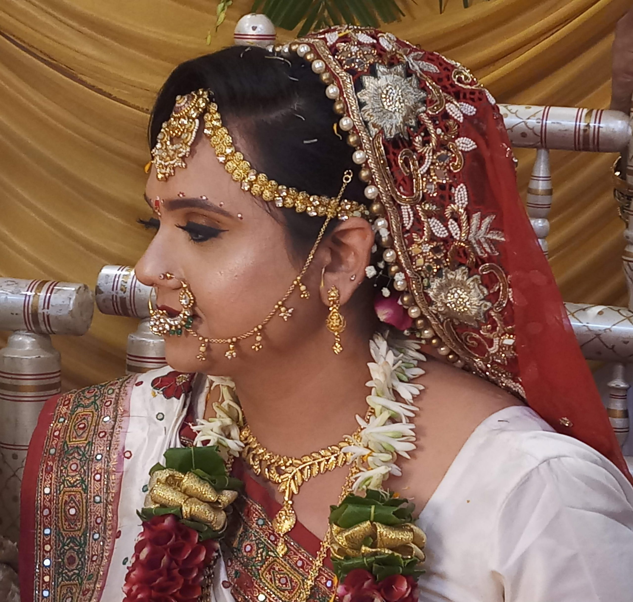 indian bride side profile