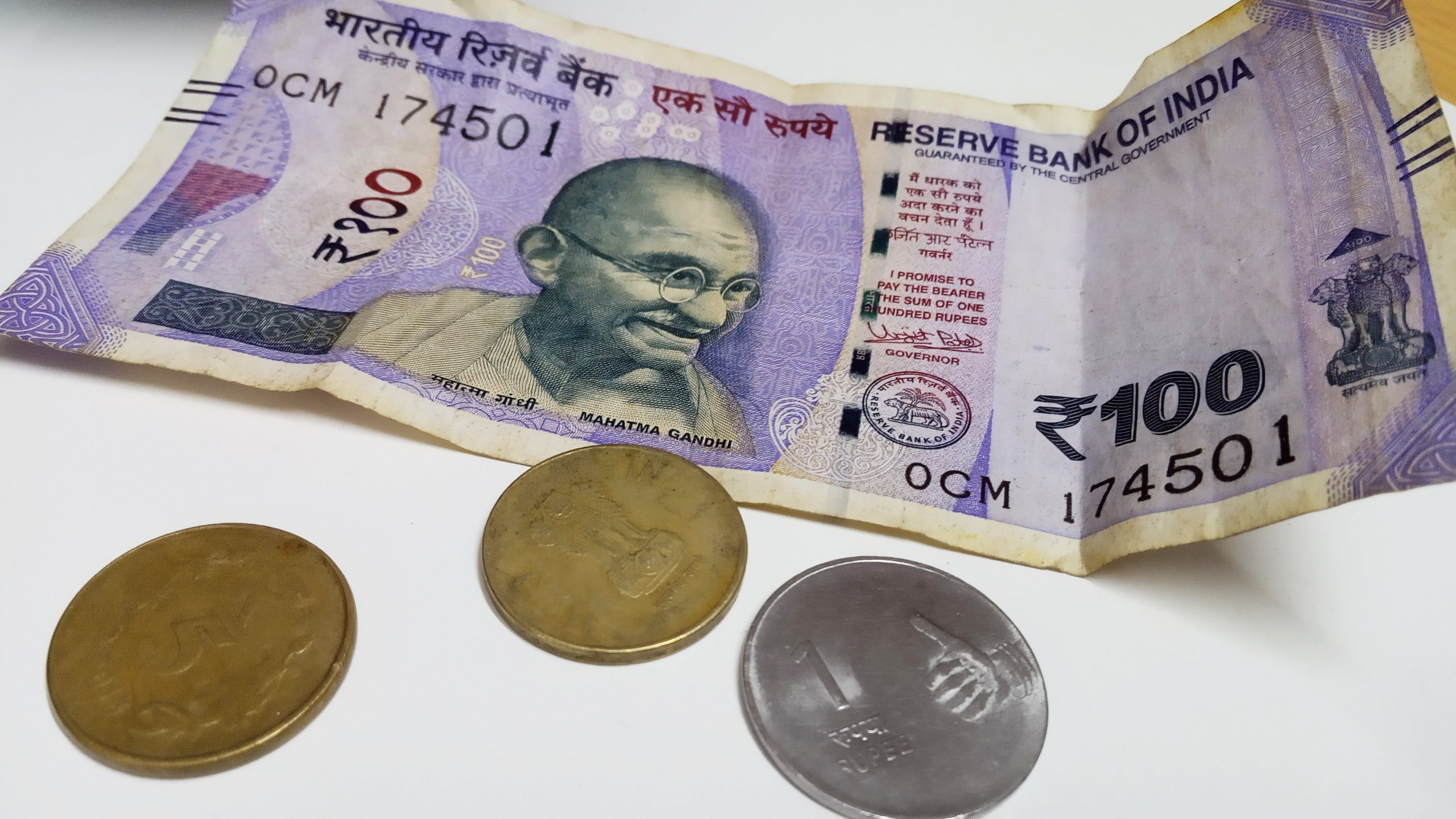 Indian coins and currency note