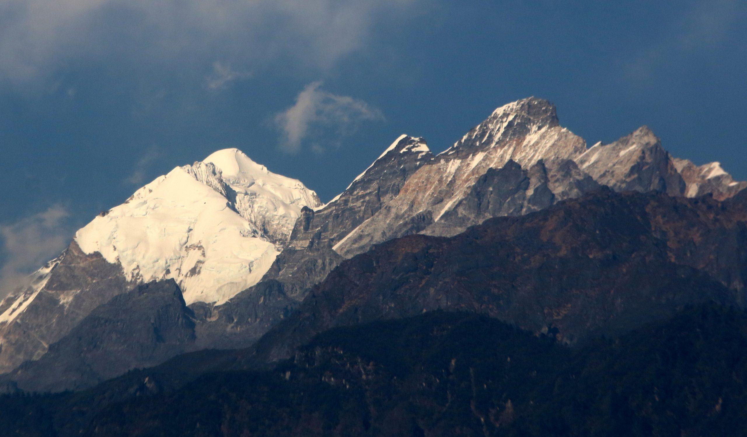 Kangchenjunga peak in Himalaya