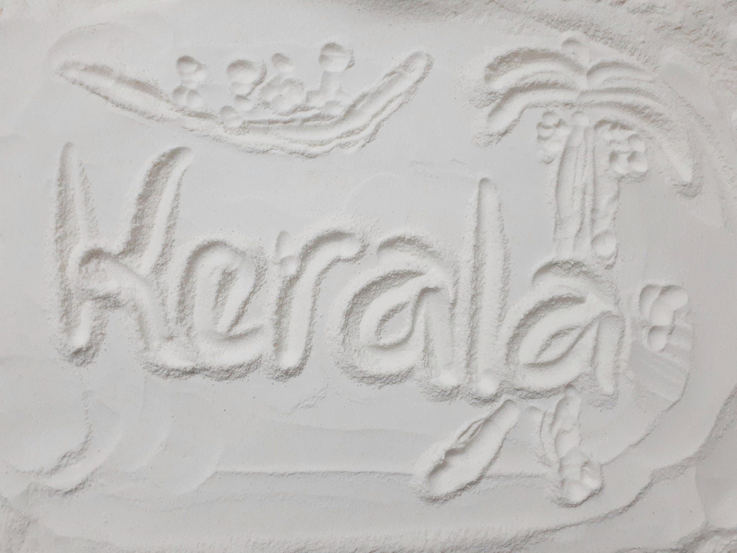 Kerala written on rice flour