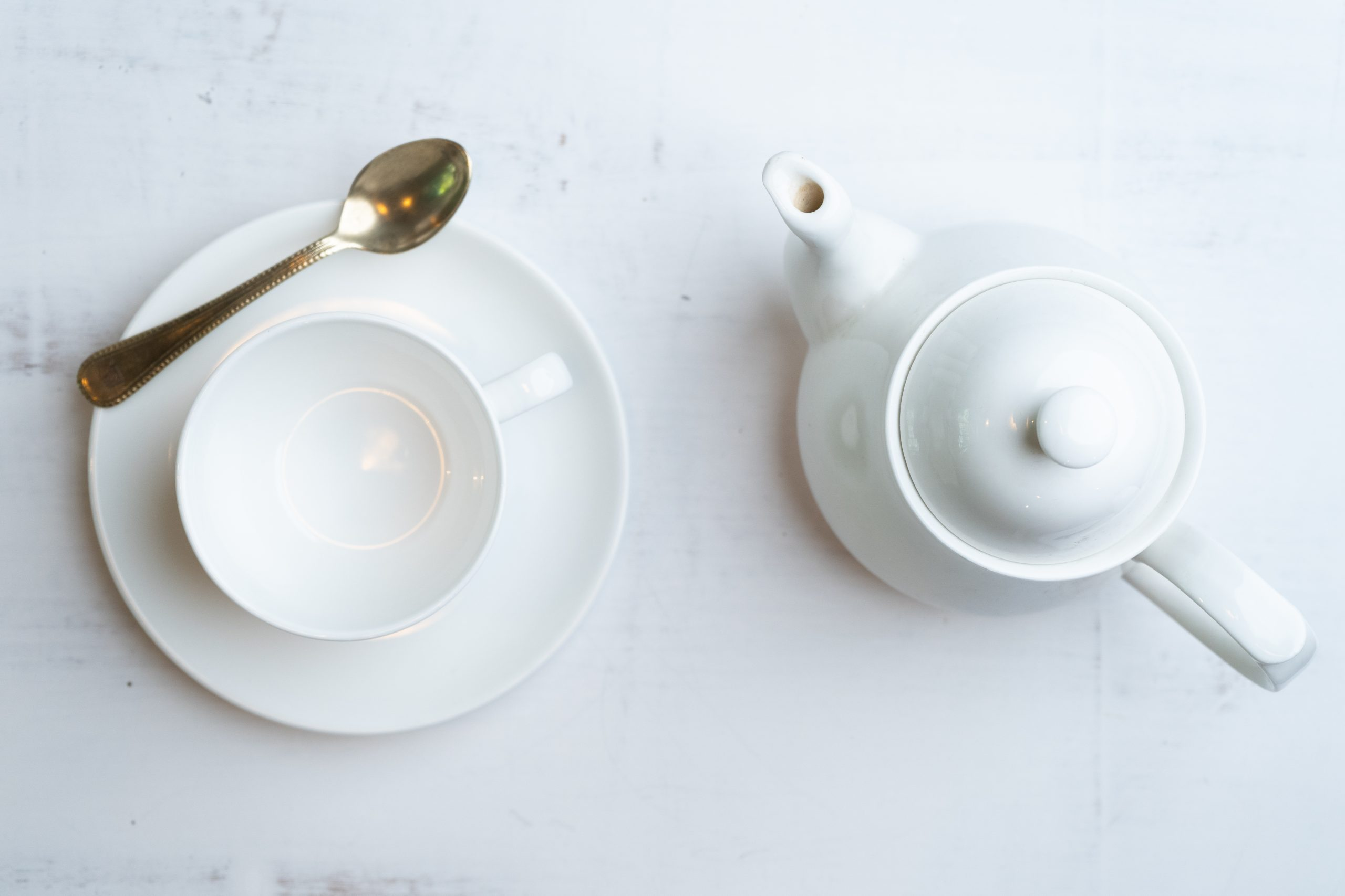 Kettle and tea cup faltlay