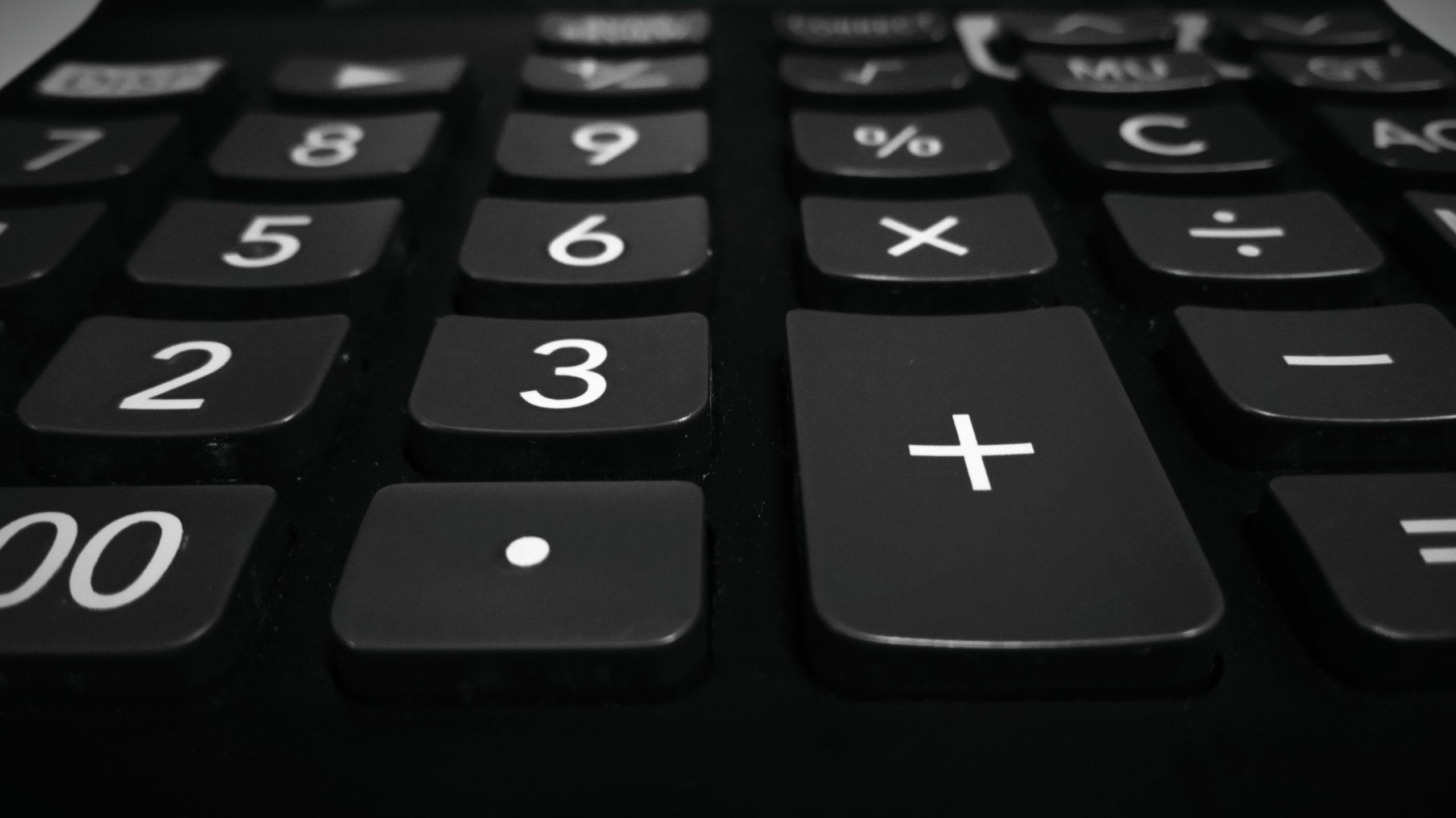Keypad of a calculator