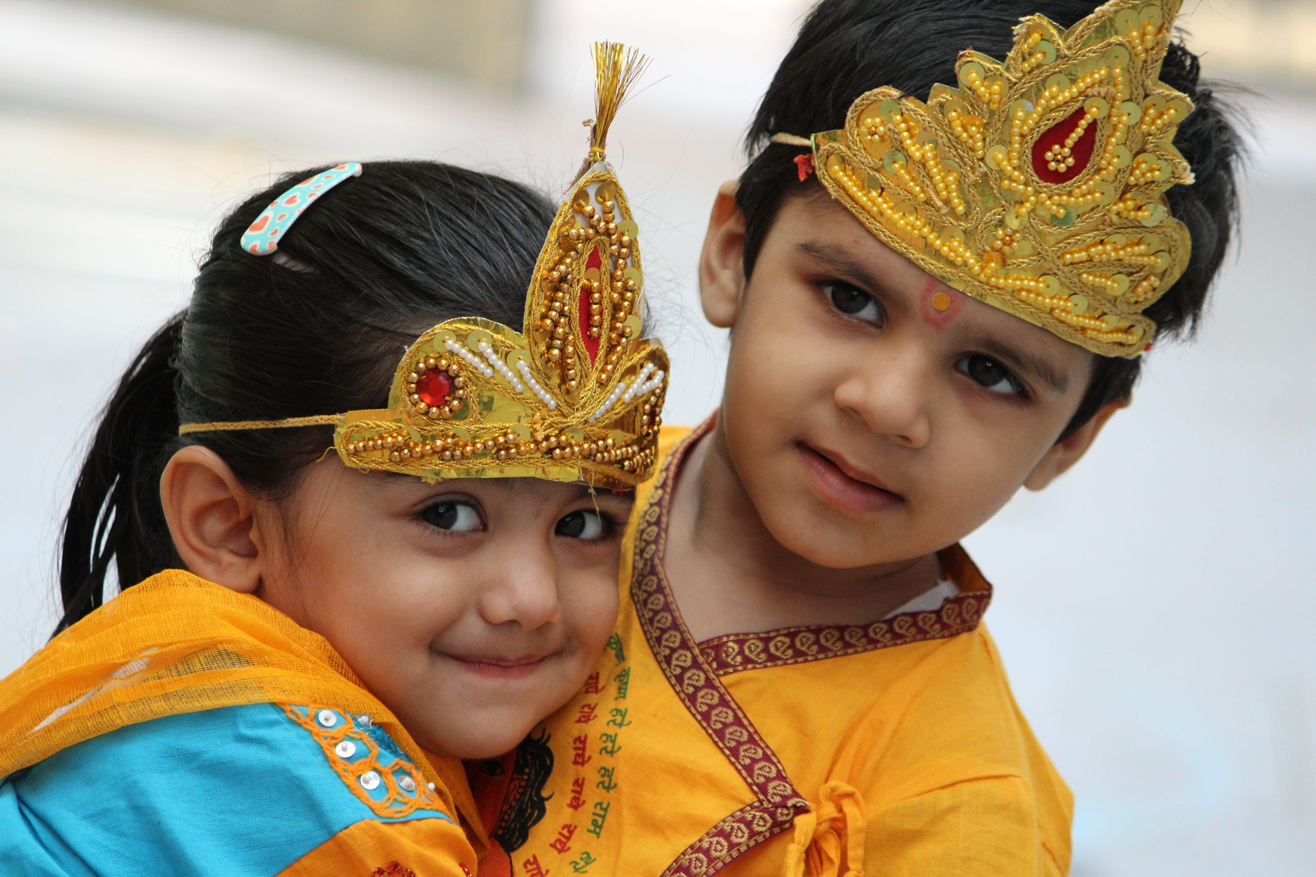 Kids in Radha Krishna costume