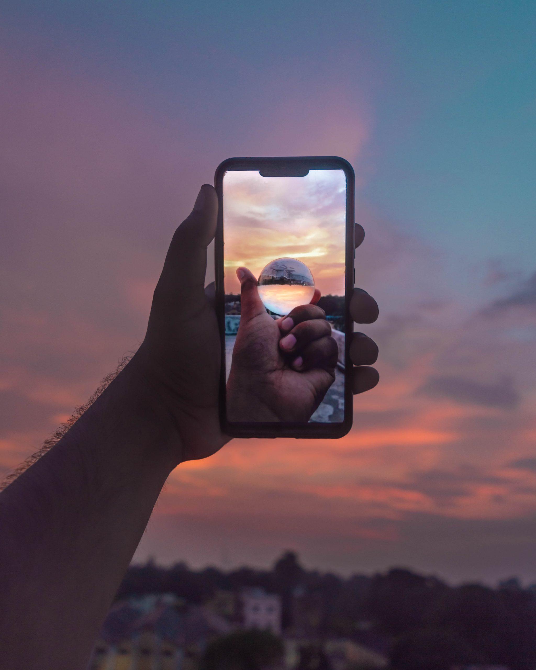 Lens ball through a mobile
