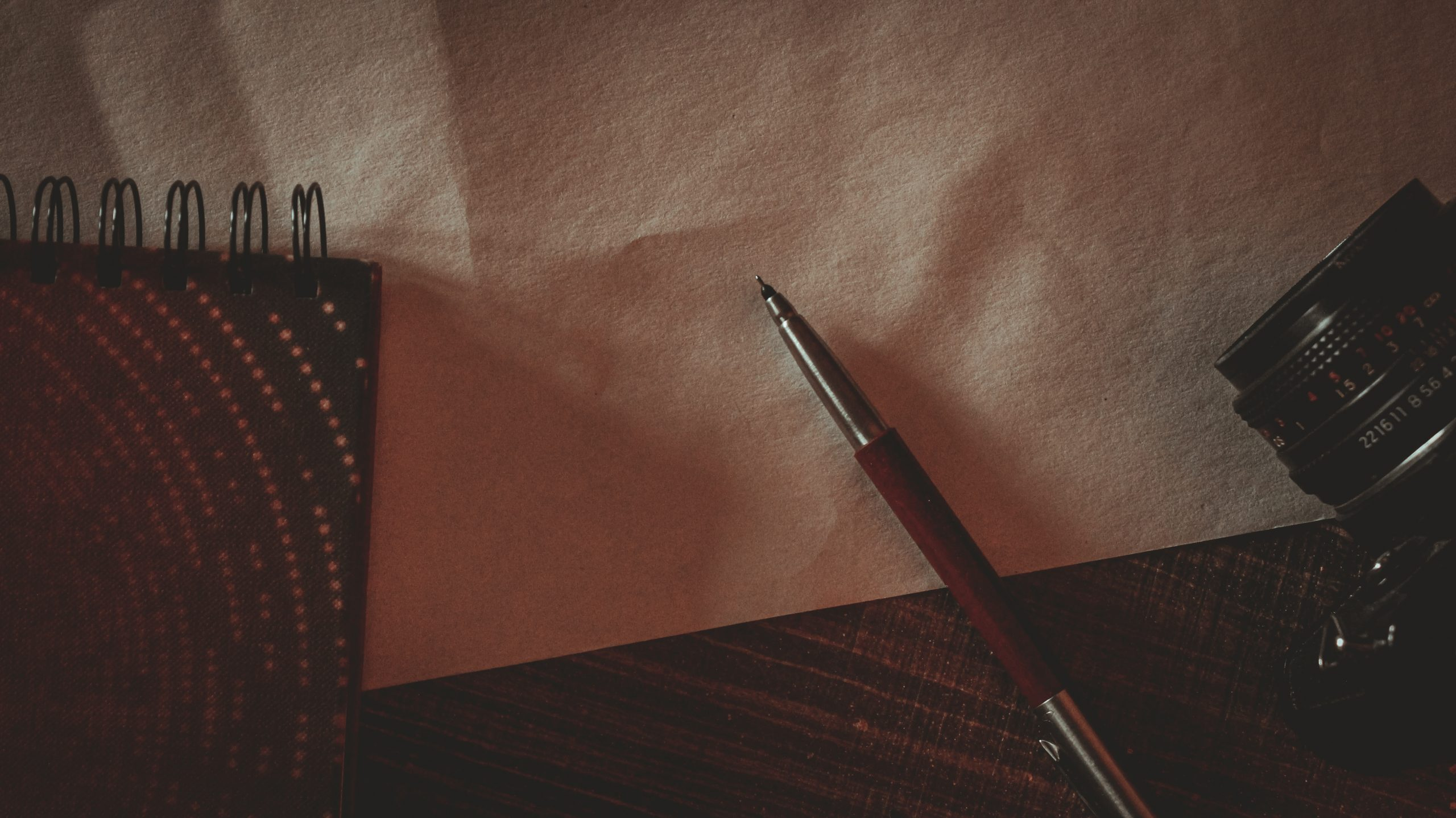 A pen and book