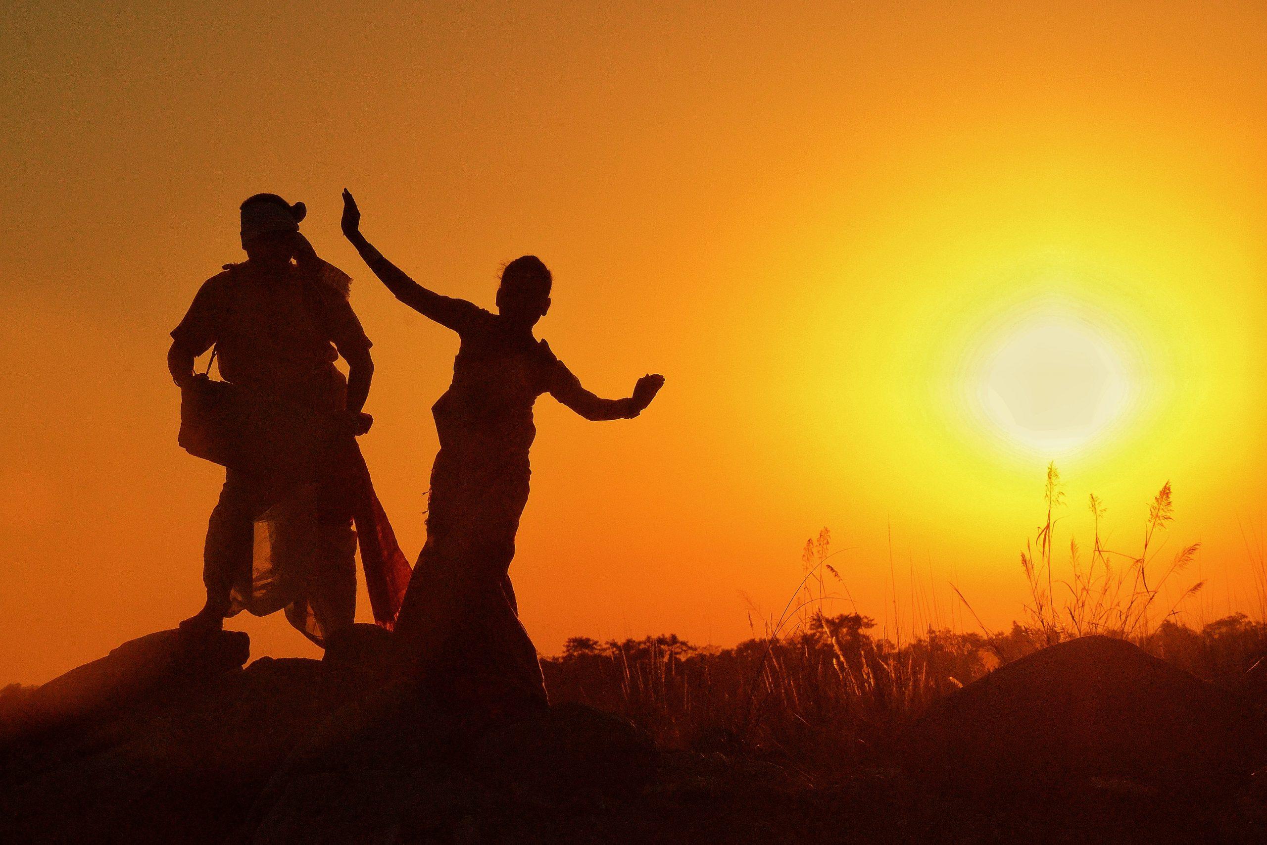 People dancing in evening